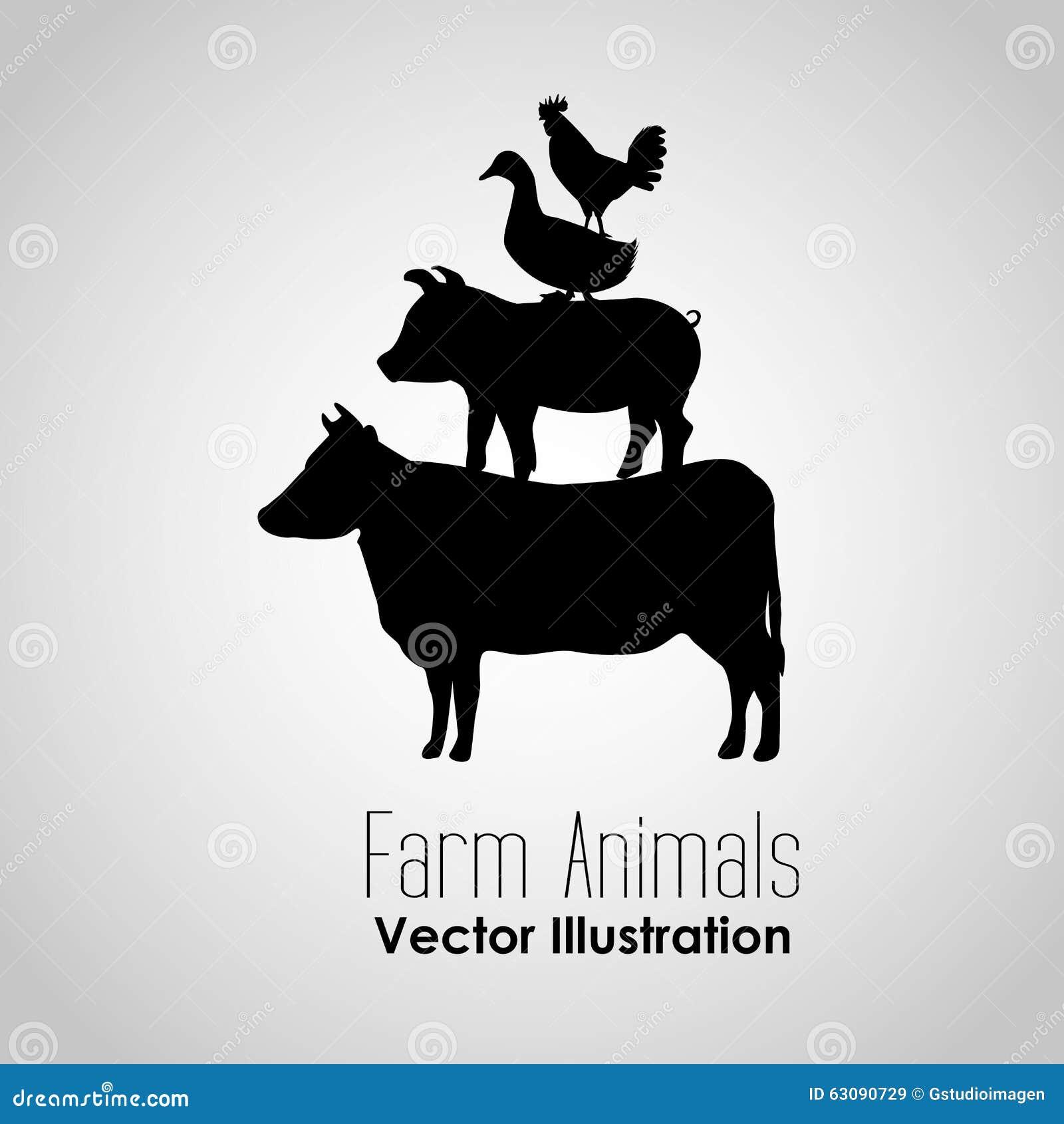 Download Conception D'animaux De Ferme Illustration de Vecteur - Illustration du cartoon, conceptuel: 63090729