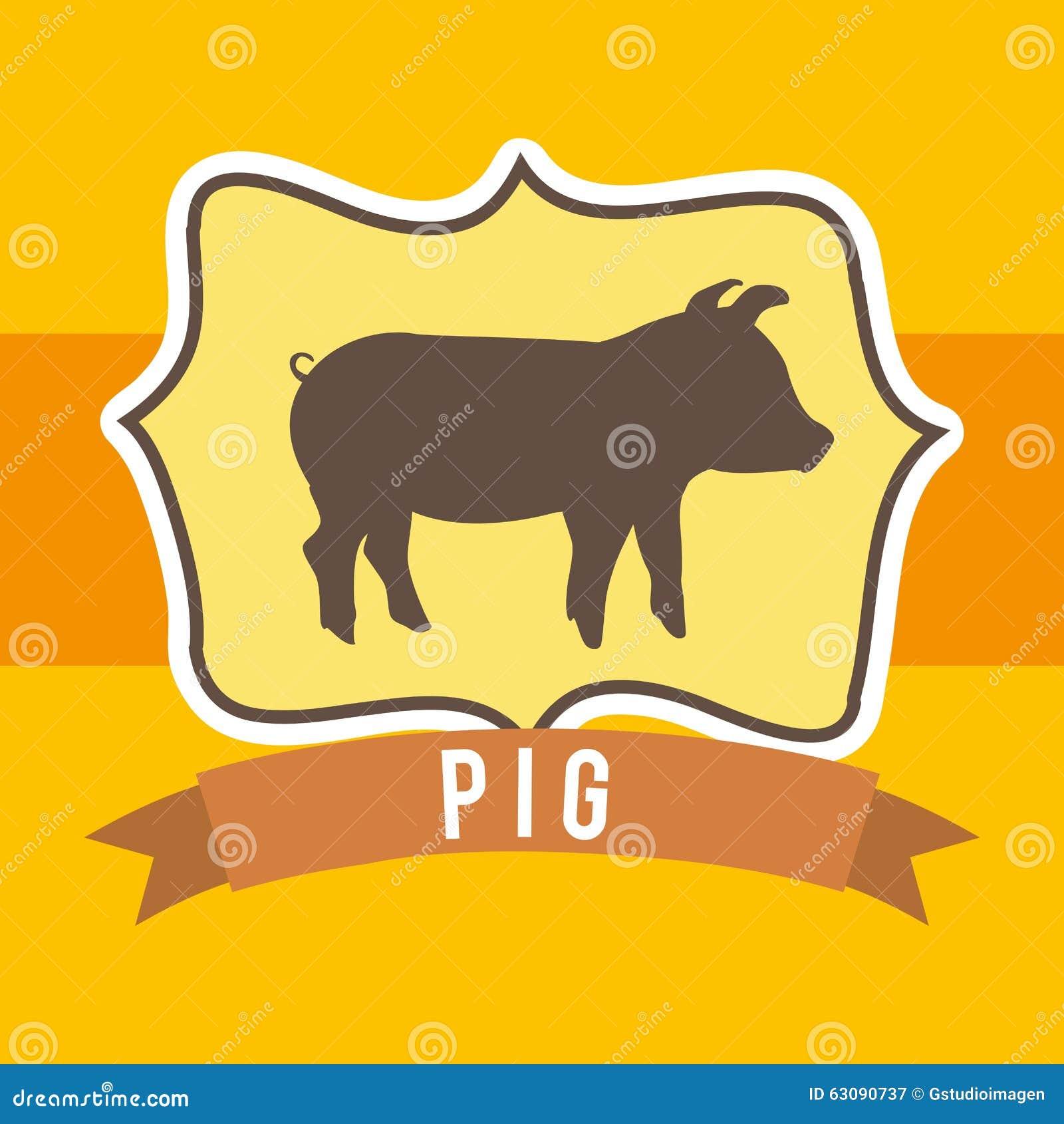 Download Conception D'animaux De Ferme Illustration de Vecteur - Illustration du bande, viande: 63090737