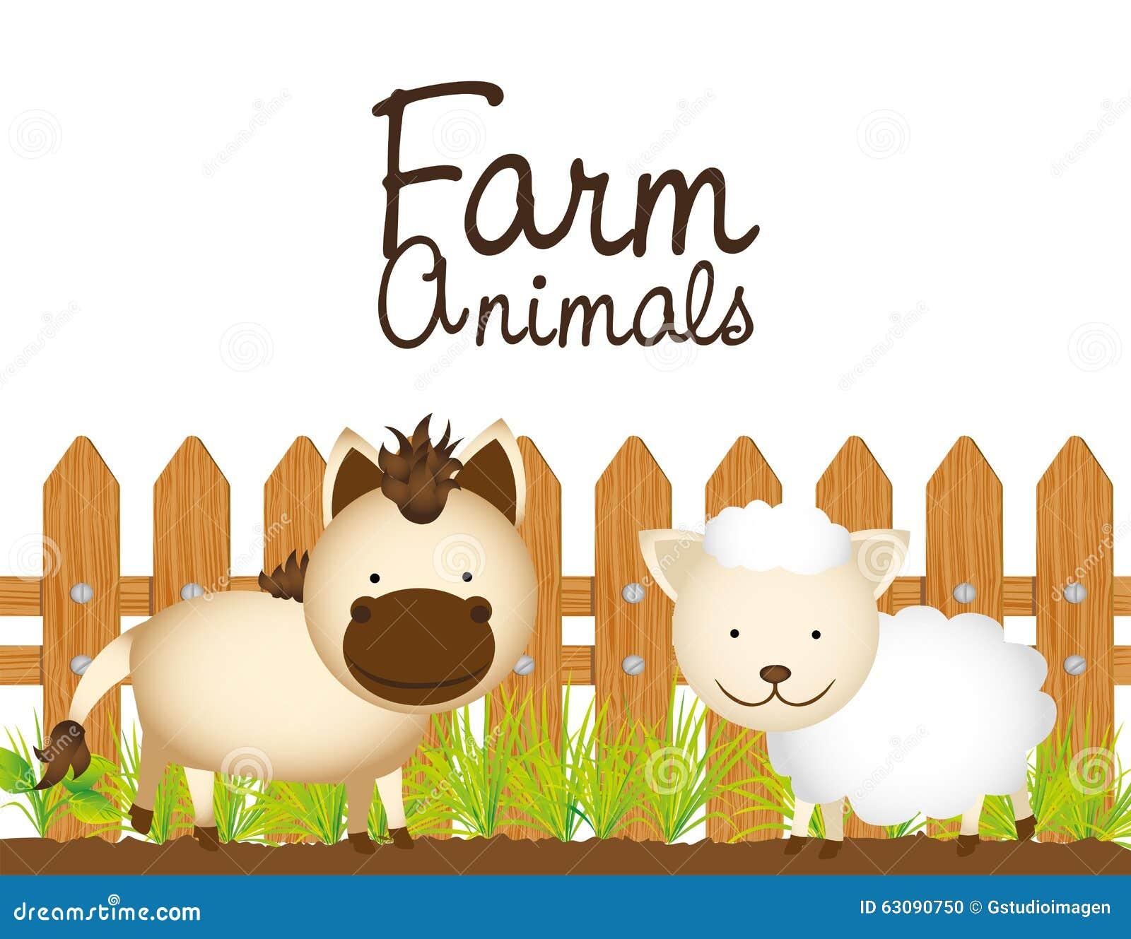 Download Conception D'animaux De Ferme Illustration Stock - Illustration du conceptuel, garanti: 63090750