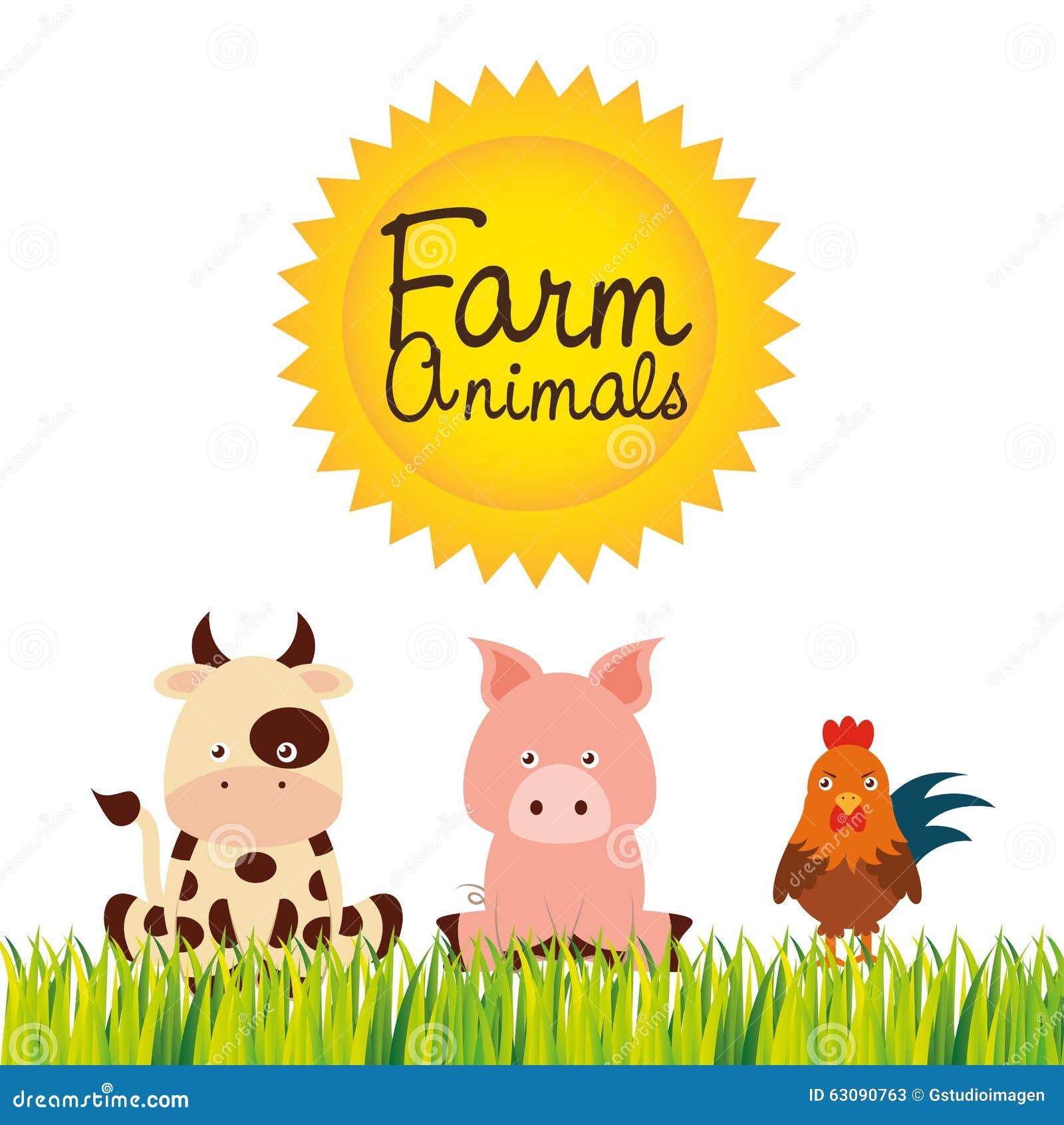 Download Conception D'animaux De Ferme Illustration de Vecteur - Illustration du amusement, produit: 63090763