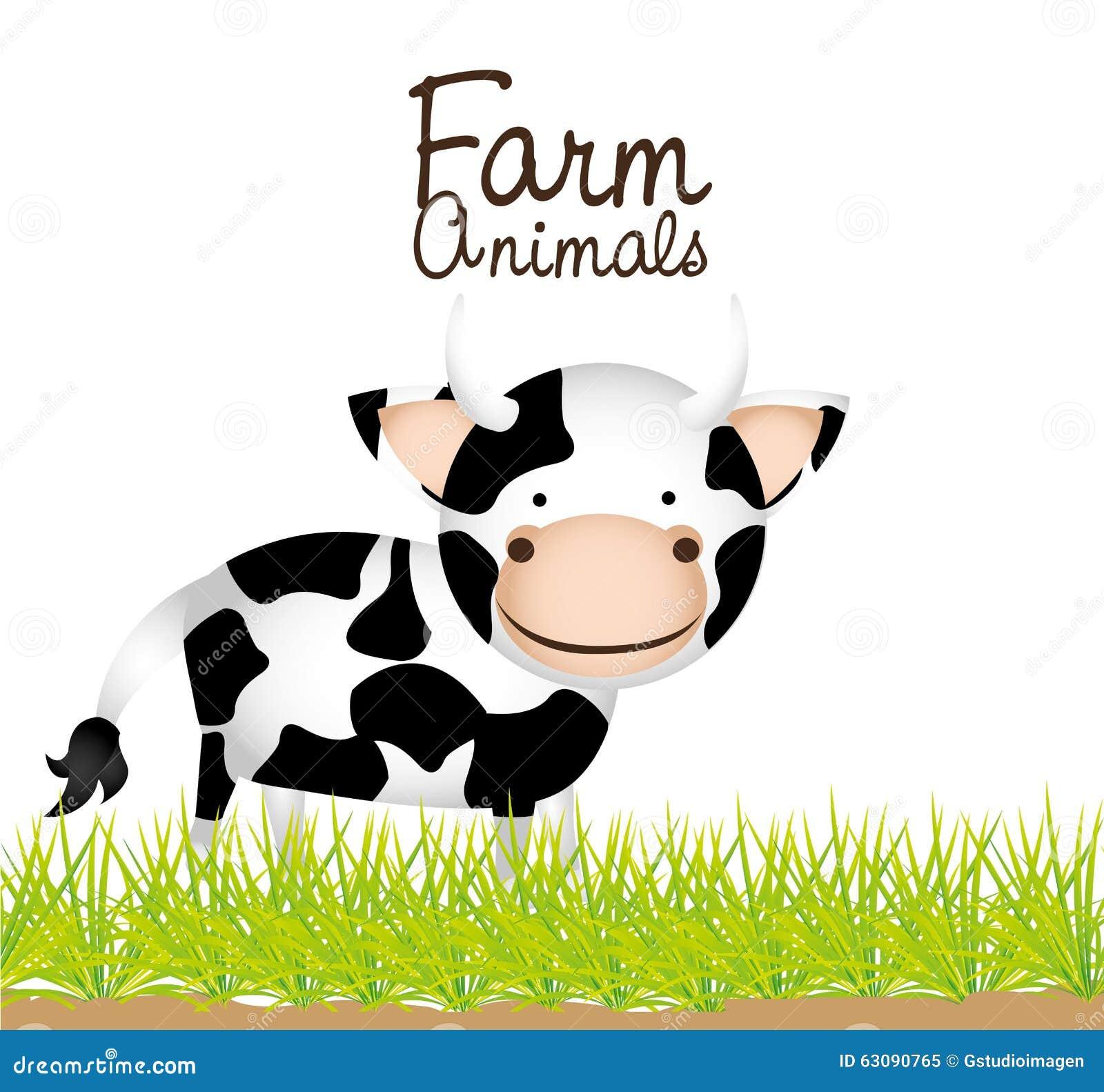 Download Conception D'animaux De Ferme Illustration Stock - Illustration du mignon, fond: 63090765