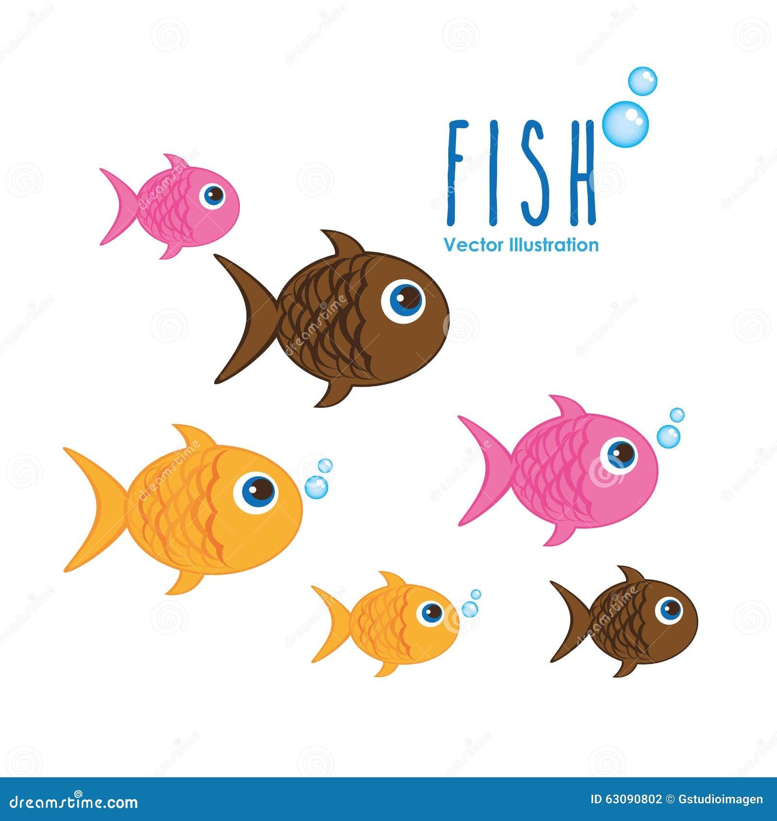 Download Conception D'animaux De Mer Illustration de Vecteur - Illustration du vecteur, nature: 63090802