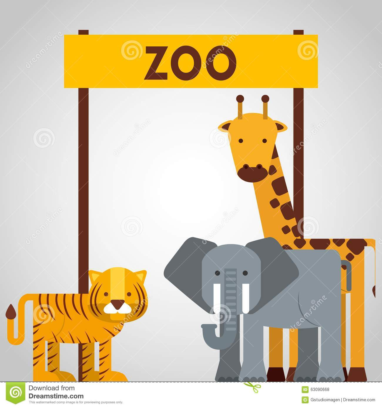 Download Conception D'animaux De Zoo Illustration de Vecteur - Illustration du conception, tigre: 63090668