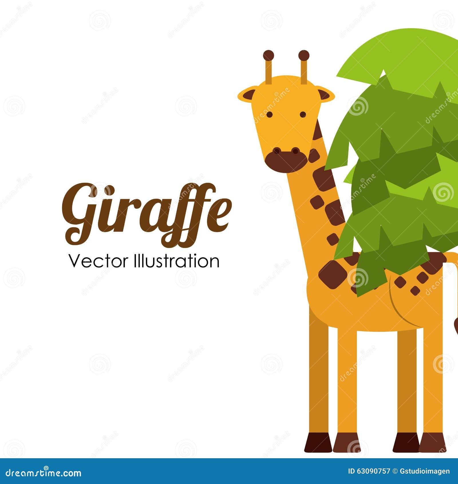 Download Conception D'animaux De Zoo Illustration de Vecteur - Illustration du africain, jungle: 63090757