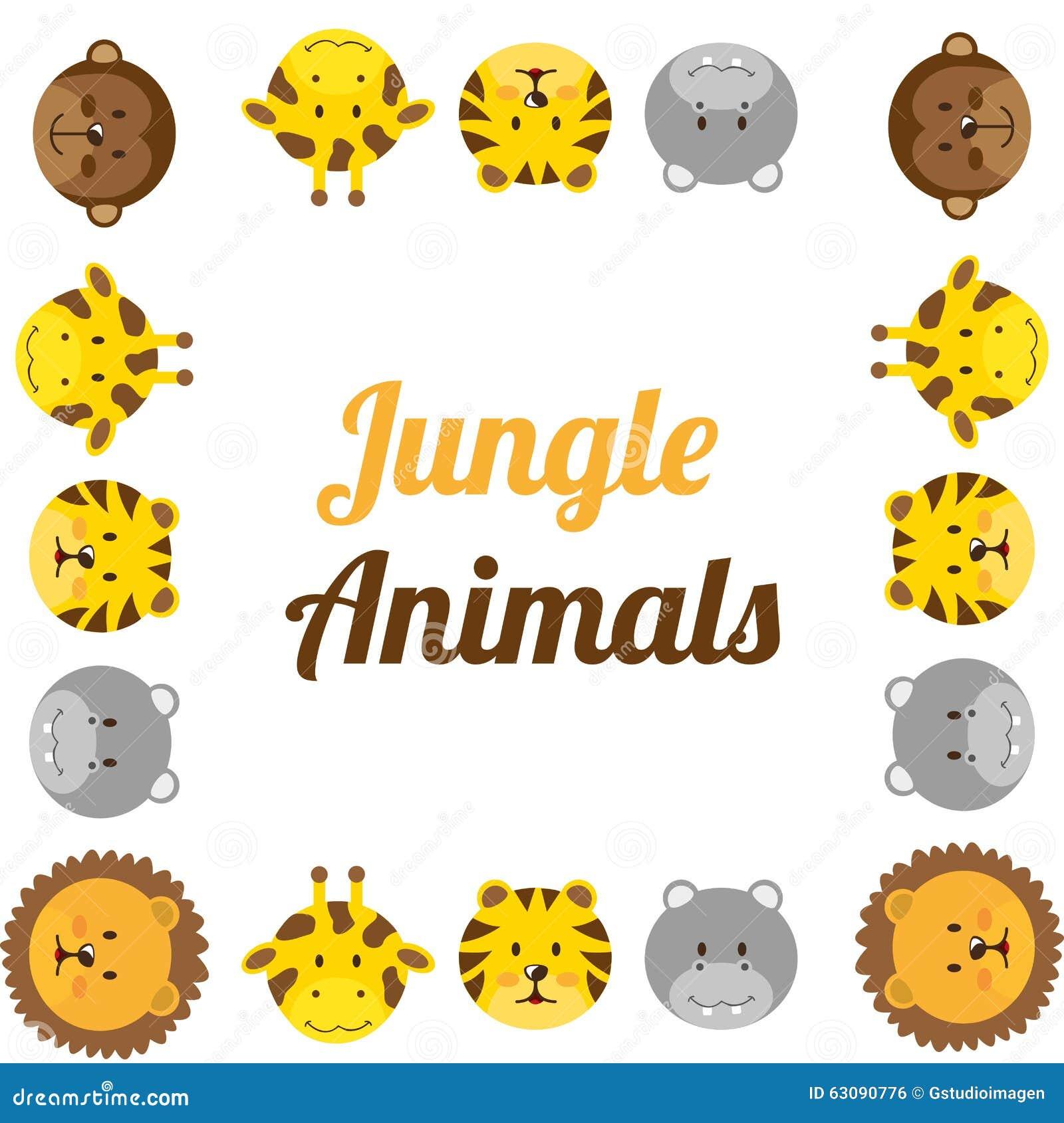 Download Conception D'animaux De Zoo Illustration de Vecteur - Illustration du illustration, isolement: 63090776
