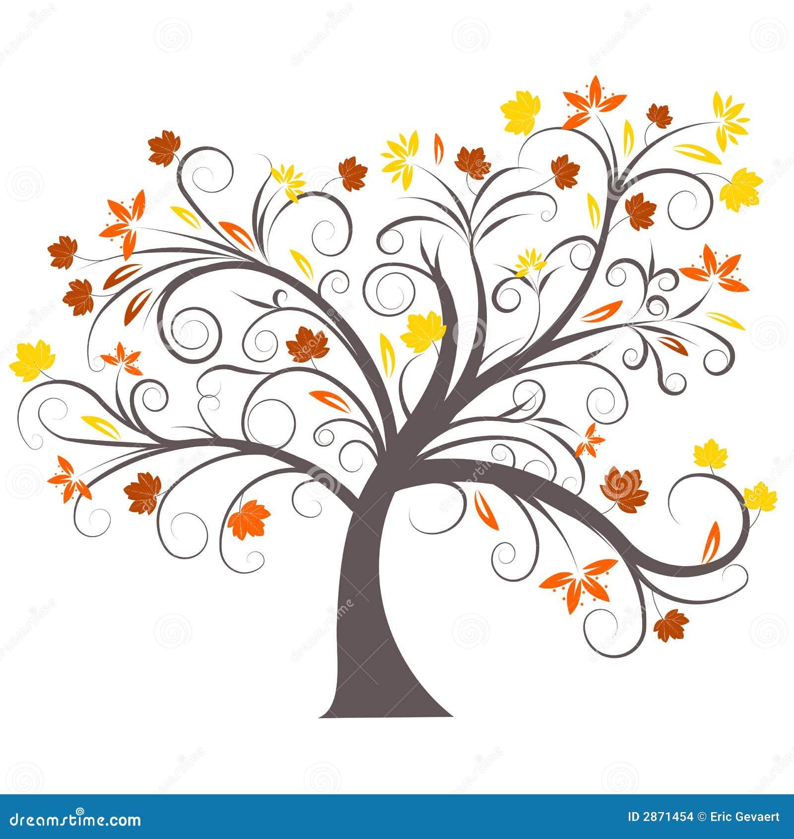 Conception d 39 arbre d 39 automne de vecteur illustration de vecteur illustration du enroulement - Arbre d automne dessin ...