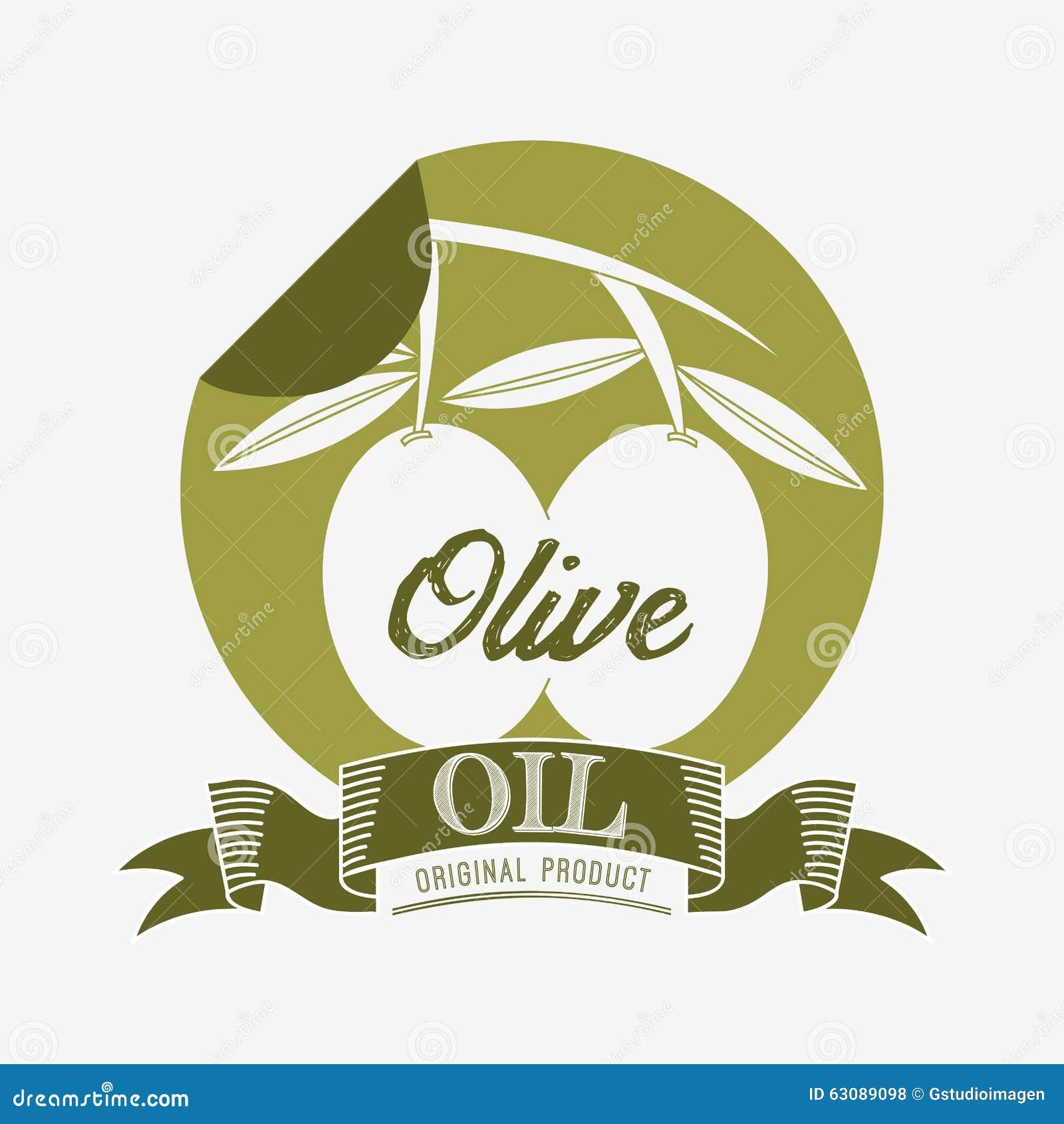 Download Conception d'huile d'olive illustration de vecteur. Illustration du organique - 63089098