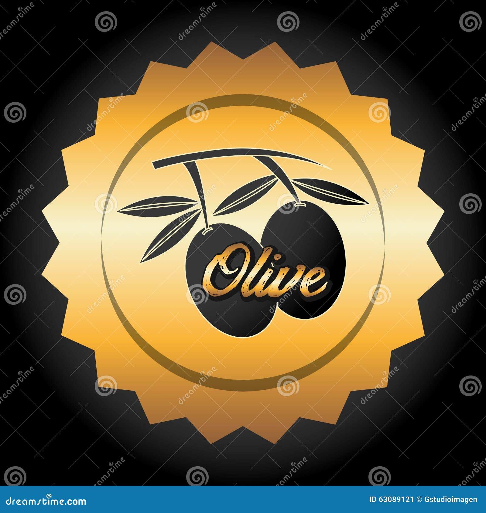 Download Conception d'huile d'olive illustration de vecteur. Illustration du étiquette - 63089121