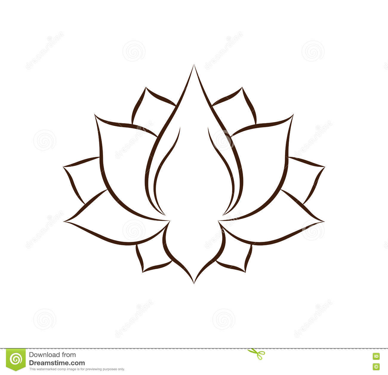 Conception D Icone D Isolement Par Dessin De Fleur De Lotus