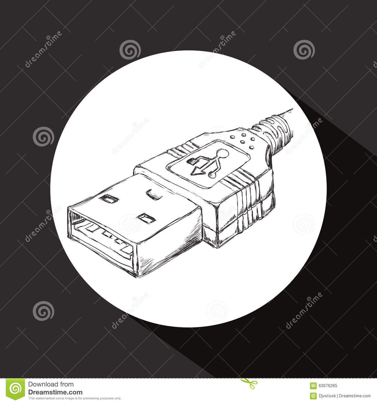 Download Conception d'icône d'Usb illustration de vecteur. Illustration du mémoire - 63076265