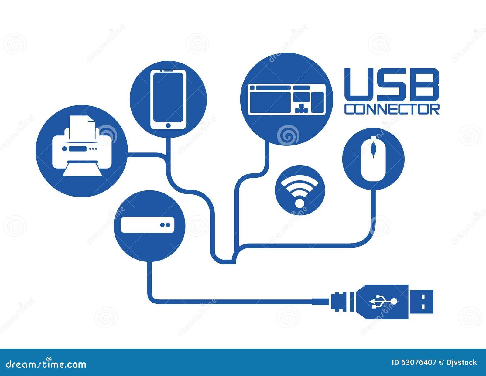 Download Conception d'icône d'Usb illustration de vecteur. Illustration du connecteur - 63076407