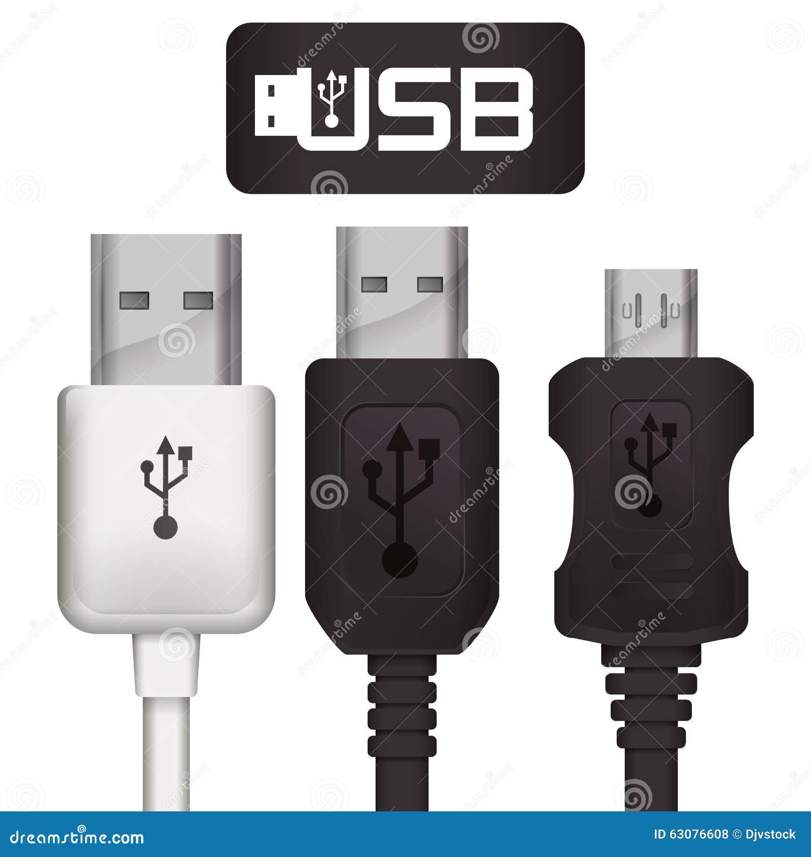 Download Conception d'icône d'Usb illustration de vecteur. Illustration du symbole - 63076608