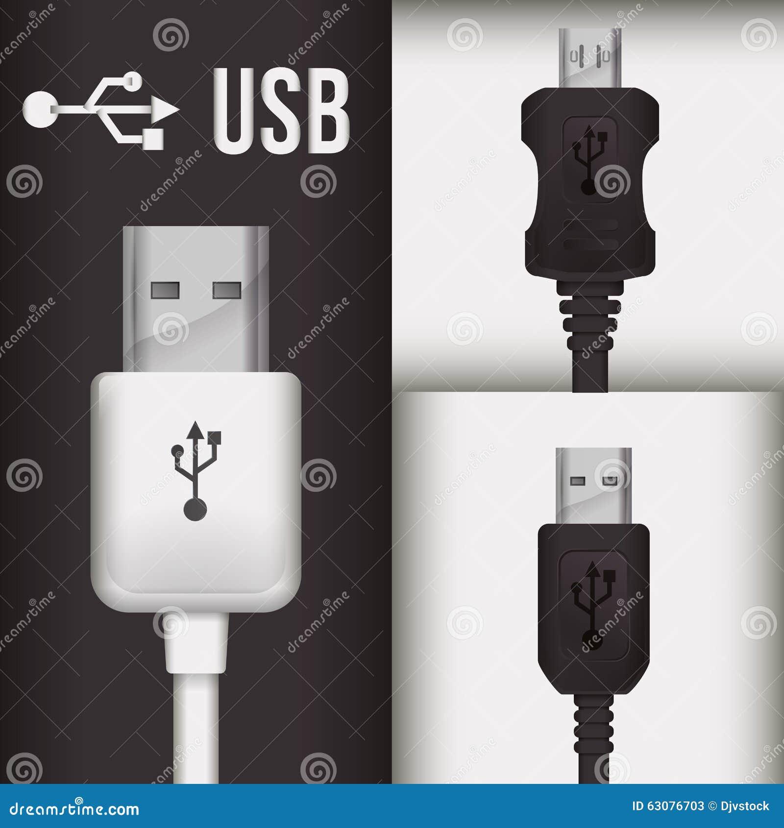 Download Conception d'icône d'Usb illustration de vecteur. Illustration du connexion - 63076703