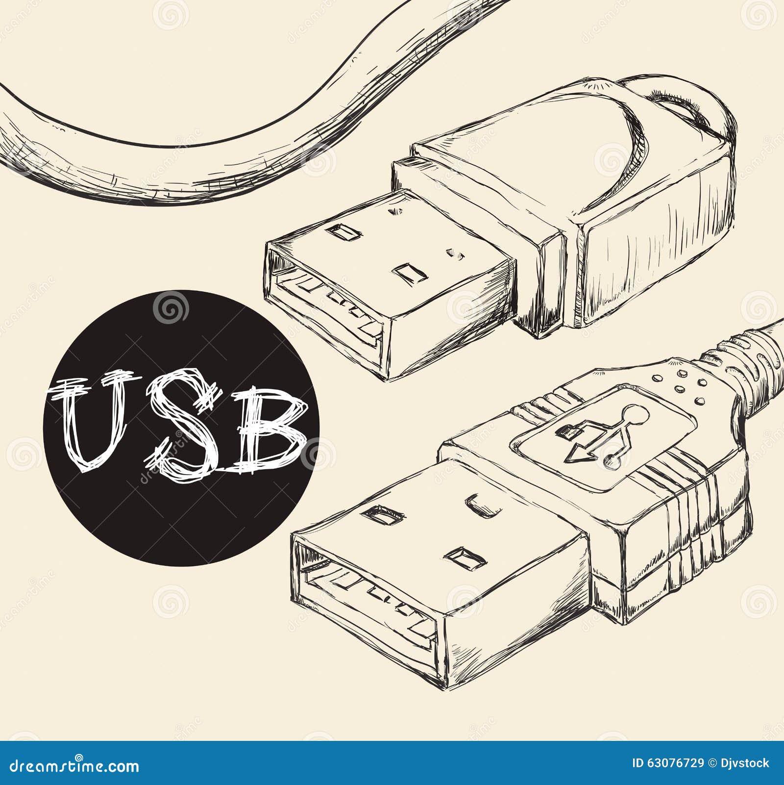 Download Conception d'icône d'Usb illustration de vecteur. Illustration du électrique - 63076729