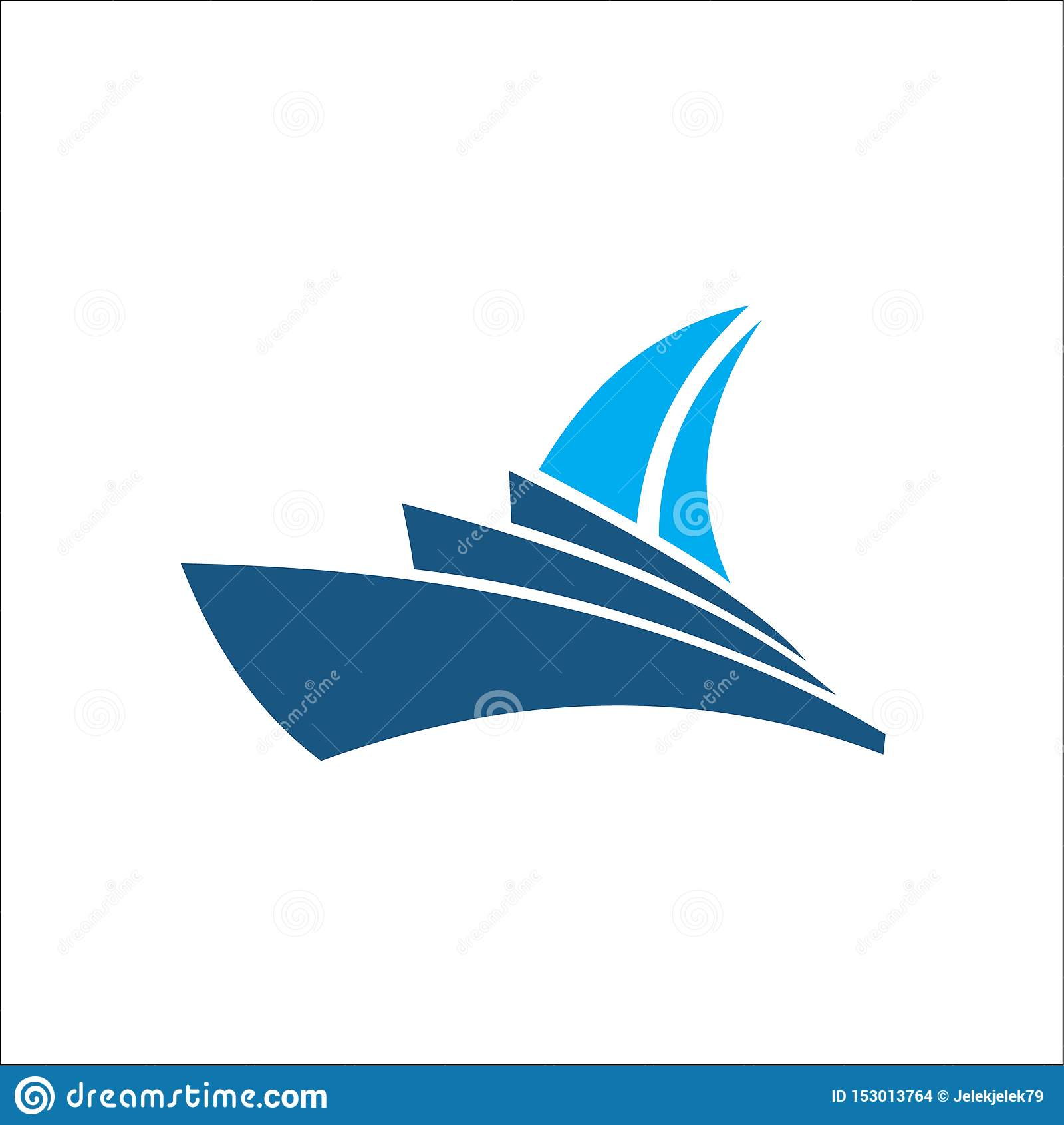 Conception d ic?ne de vecteur de Logo Template de bateau de croisi?re
