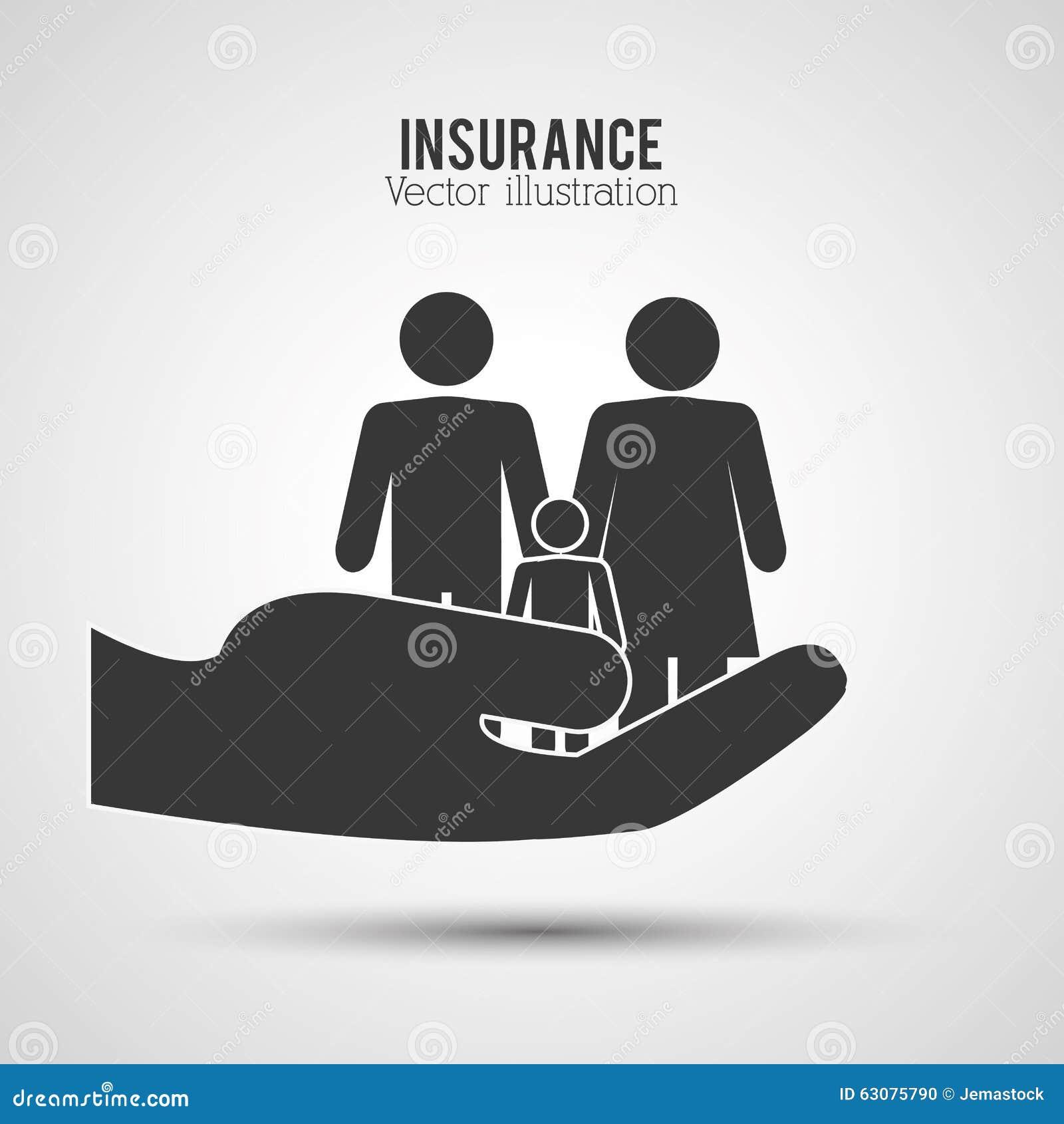 Download Conception D'icônes D'assurance Illustration de Vecteur - Illustration du sûr, forme: 63075790