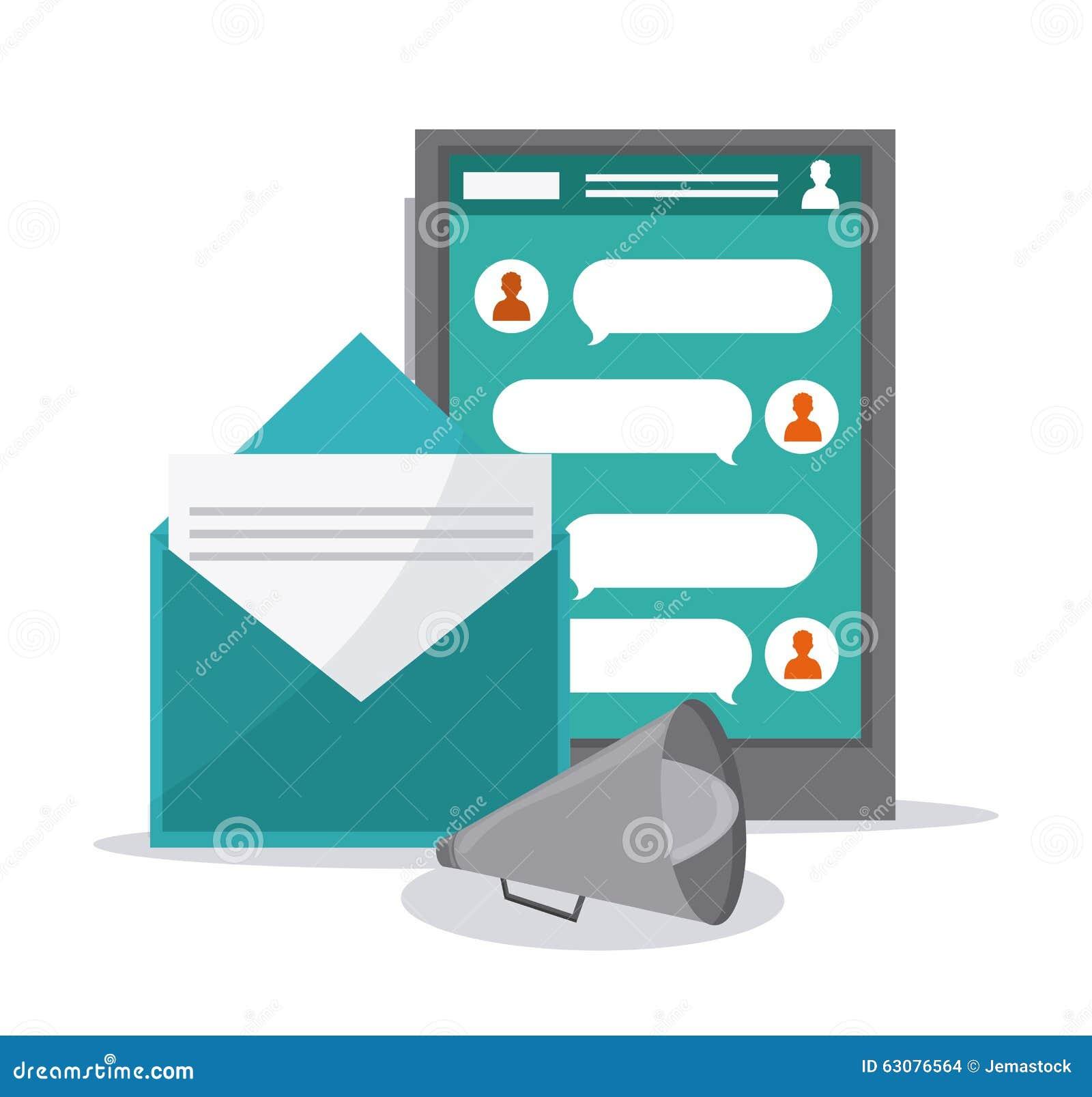 Download Conception D'icônes De Communication Illustration de Vecteur - Illustration du branchez, signe: 63076564
