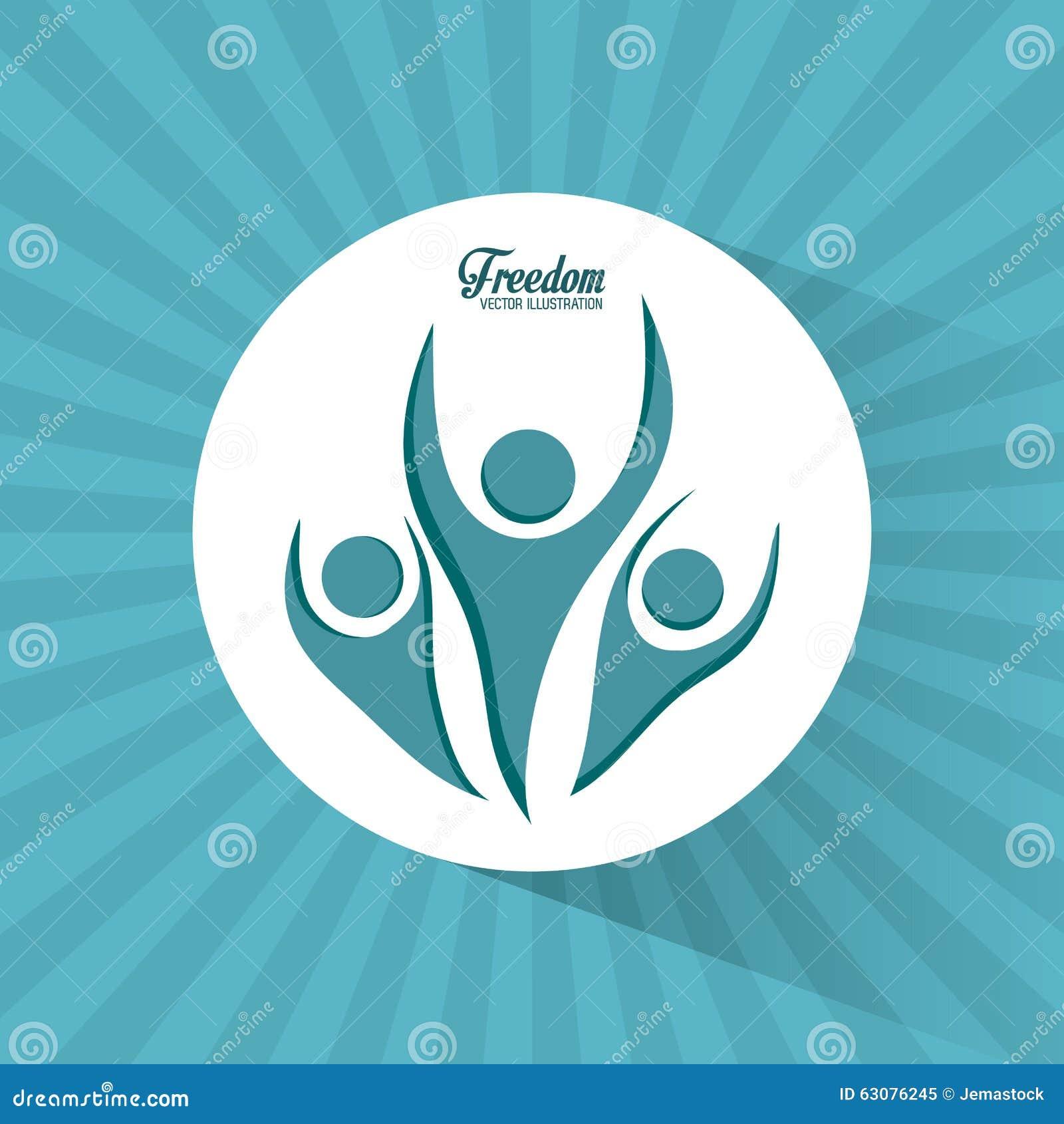 Download Conception D'icônes De Liberté Illustration de Vecteur - Illustration du heureux, amusement: 63076245