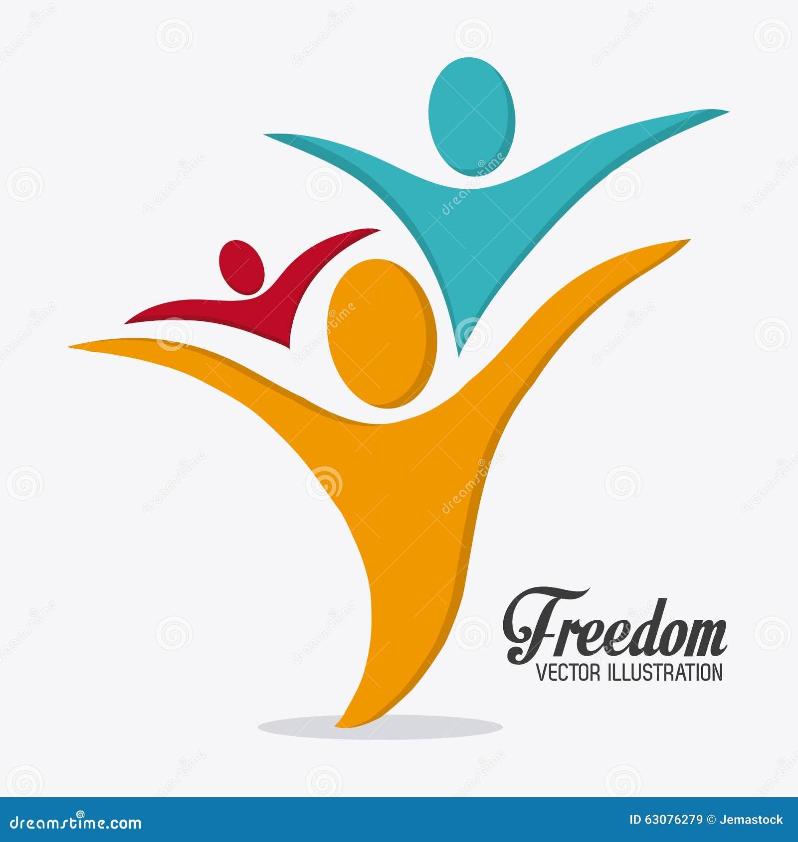 Download Conception D'icônes De Liberté Illustration de Vecteur - Illustration du jour, libre: 63076279