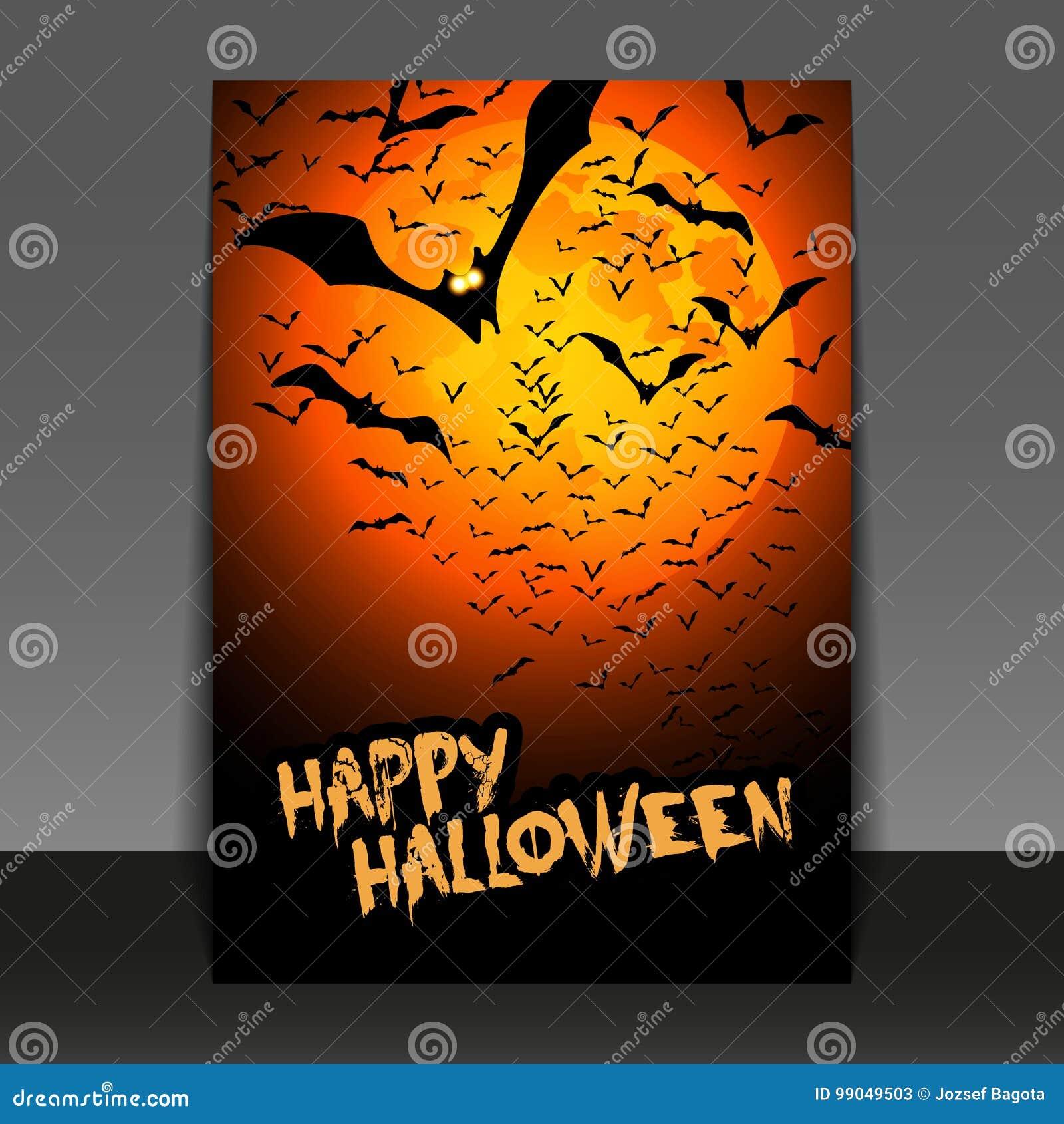 Conception D Insecte Ou De Couverture De Halloween Avec Un