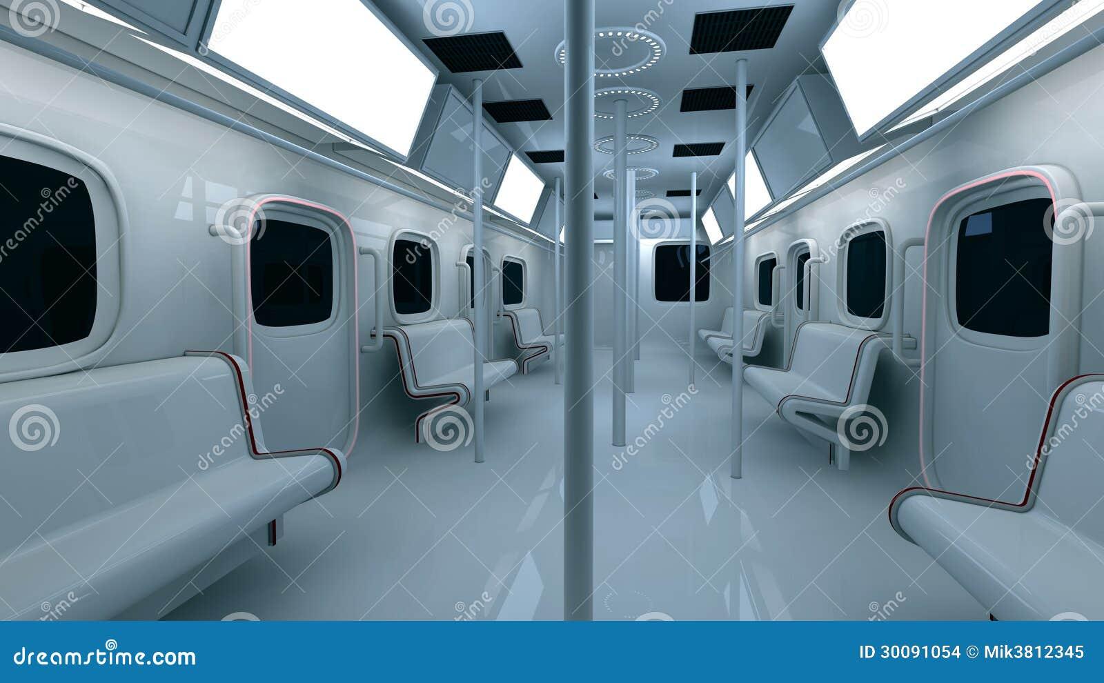 Int rieur futuriste de m tro images stock image 30091054 for Metro interieur