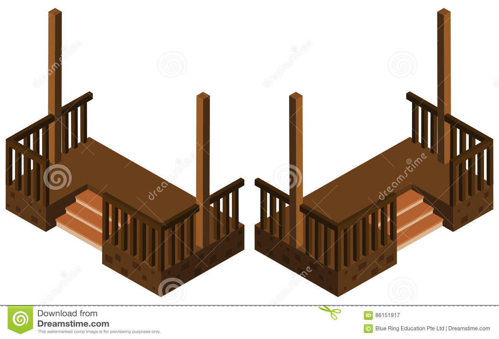 Conception 3d pour des escaliers illustration de vecteur for Conception 3d