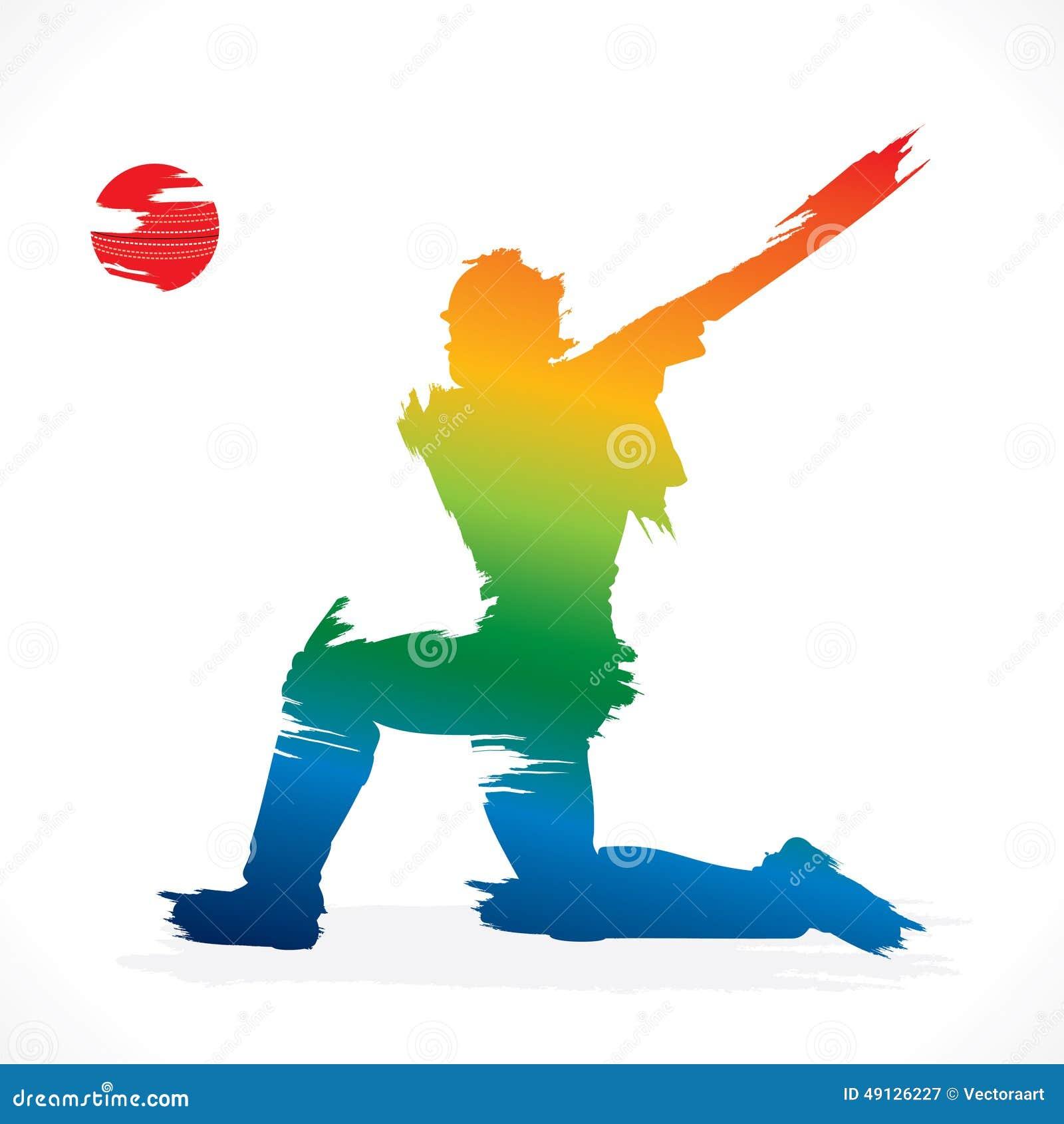 Conception de bannière de joueur de cricket