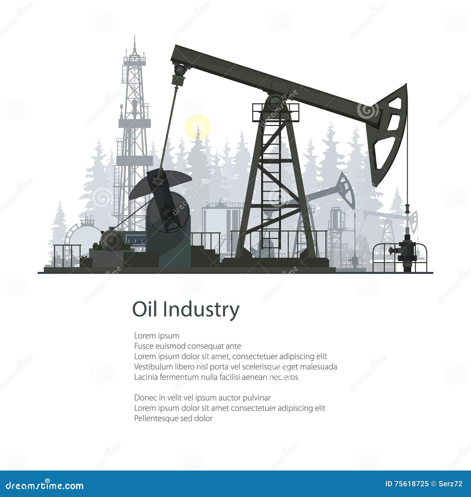 Conception de brochure d affiche d industrie pétrolière