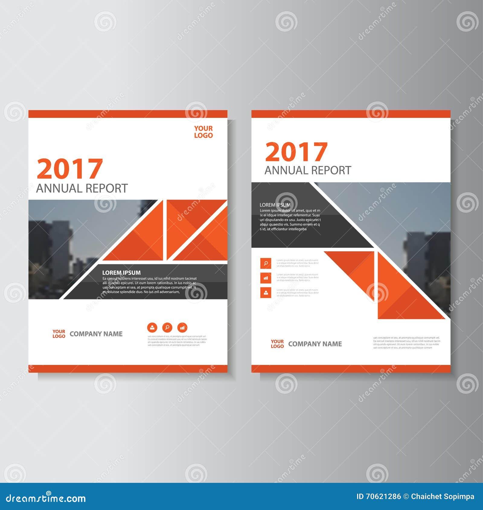 Conception de calibre d insecte de brochure de tract de rapport annuel de vecteur de triangle, conception de disposition de couve