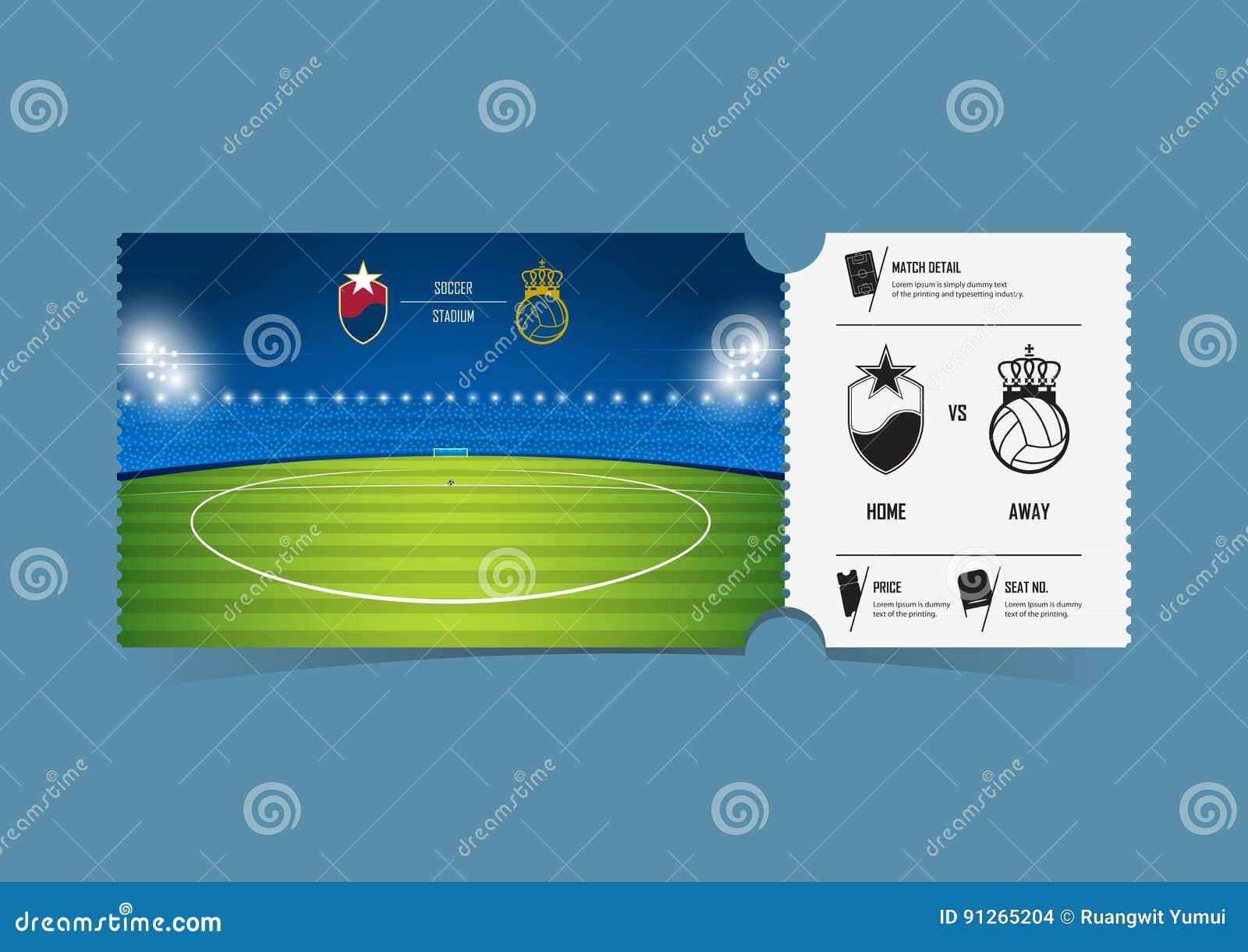 Conception De Calibre De Billets Pour Le Football Ou Le ...