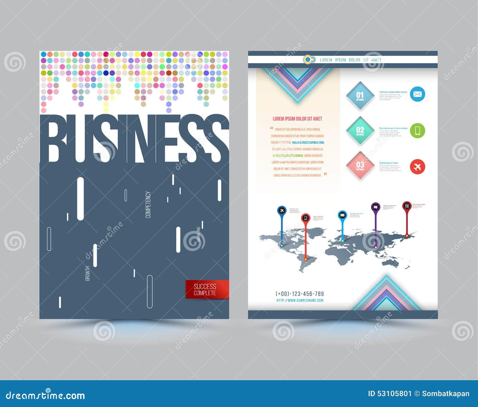 Conception De Calibre De Couverture De Brochure D Affaires De