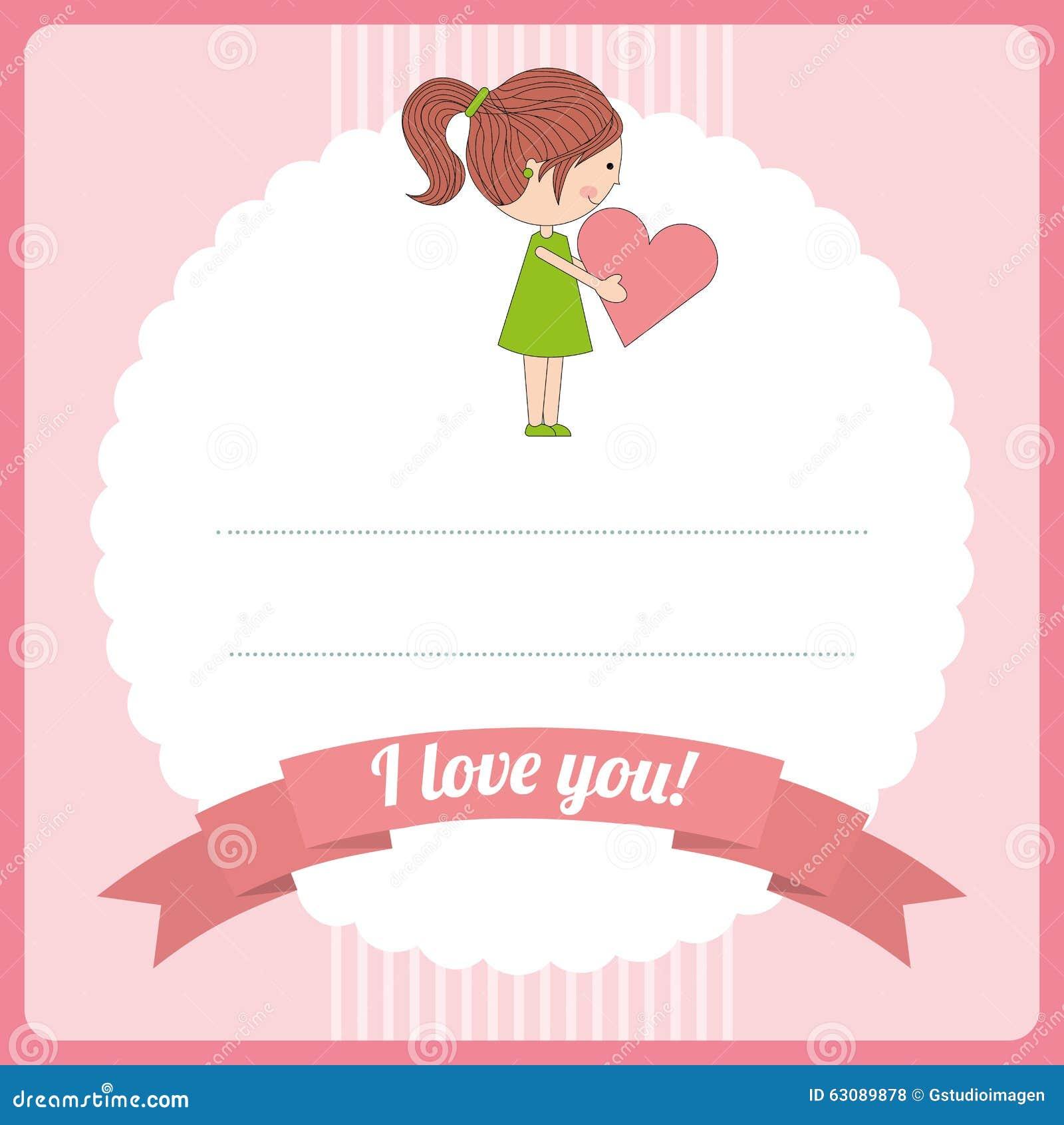 Download Conception De Carte D'amour Illustration de Vecteur - Illustration du cadeau, configuration: 63089878