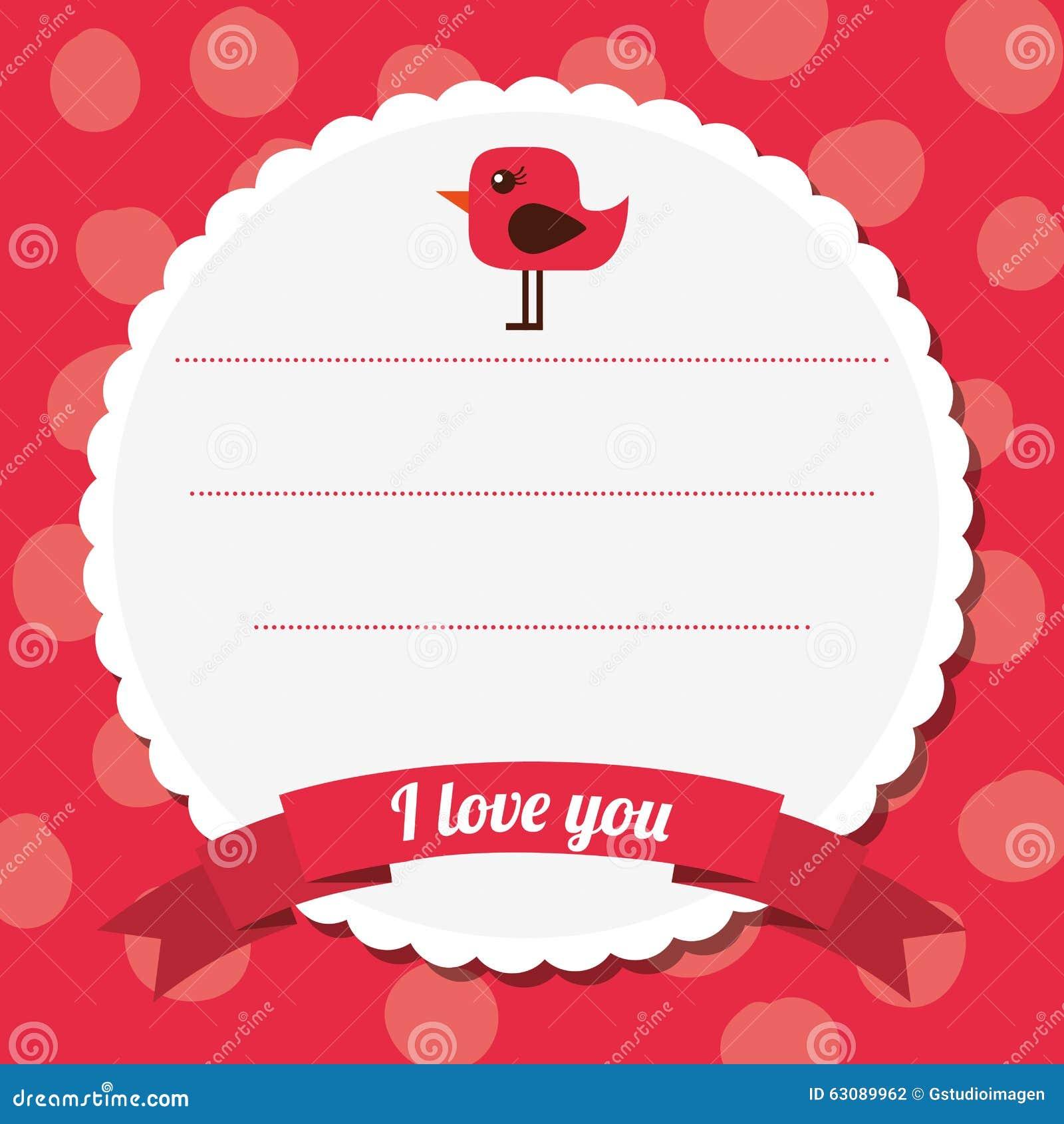 Download Conception De Carte D'amour Illustration de Vecteur - Illustration du vous, symbole: 63089962