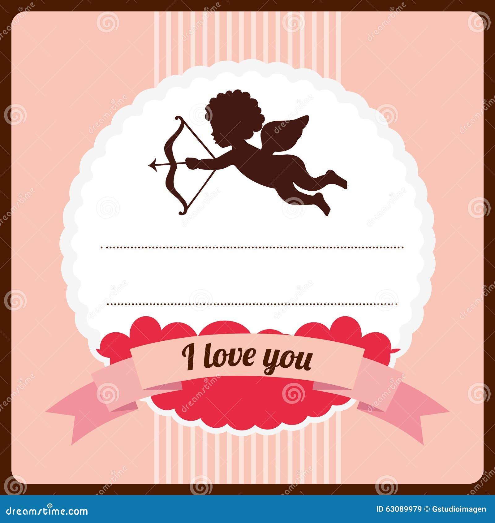 Conception de carte d 39 amour illustration de vecteur image 63089979 - Carte d amour ...