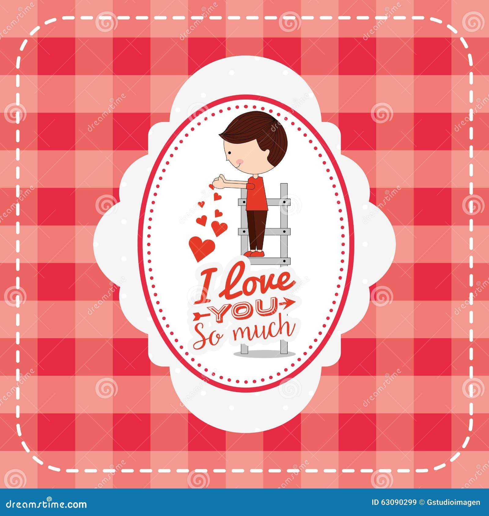 Download Conception De Carte D'amour Illustration de Vecteur - Illustration du roman, descripteur: 63090299