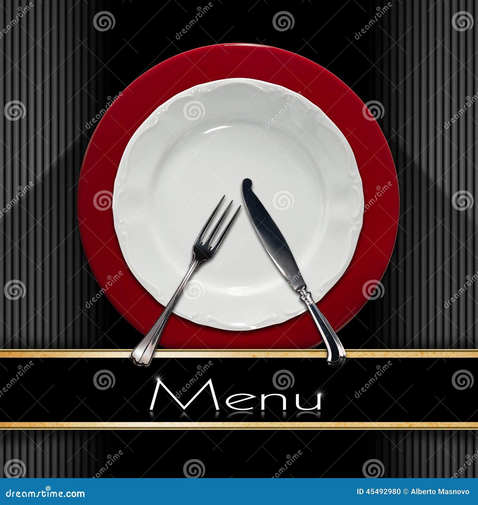 Conception de carte de restaurant illustration stock - Plats cuisines sous vide pour restaurant ...