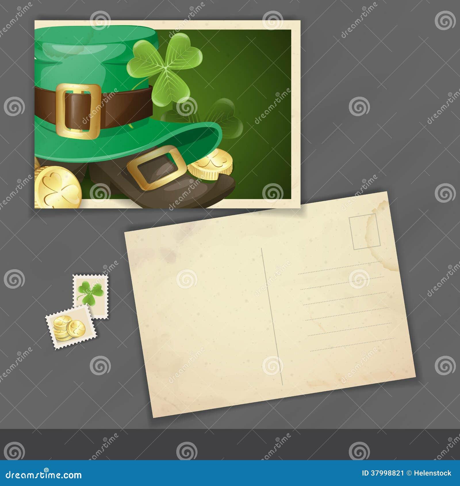 Conception de carte postale du jour de St Patrick