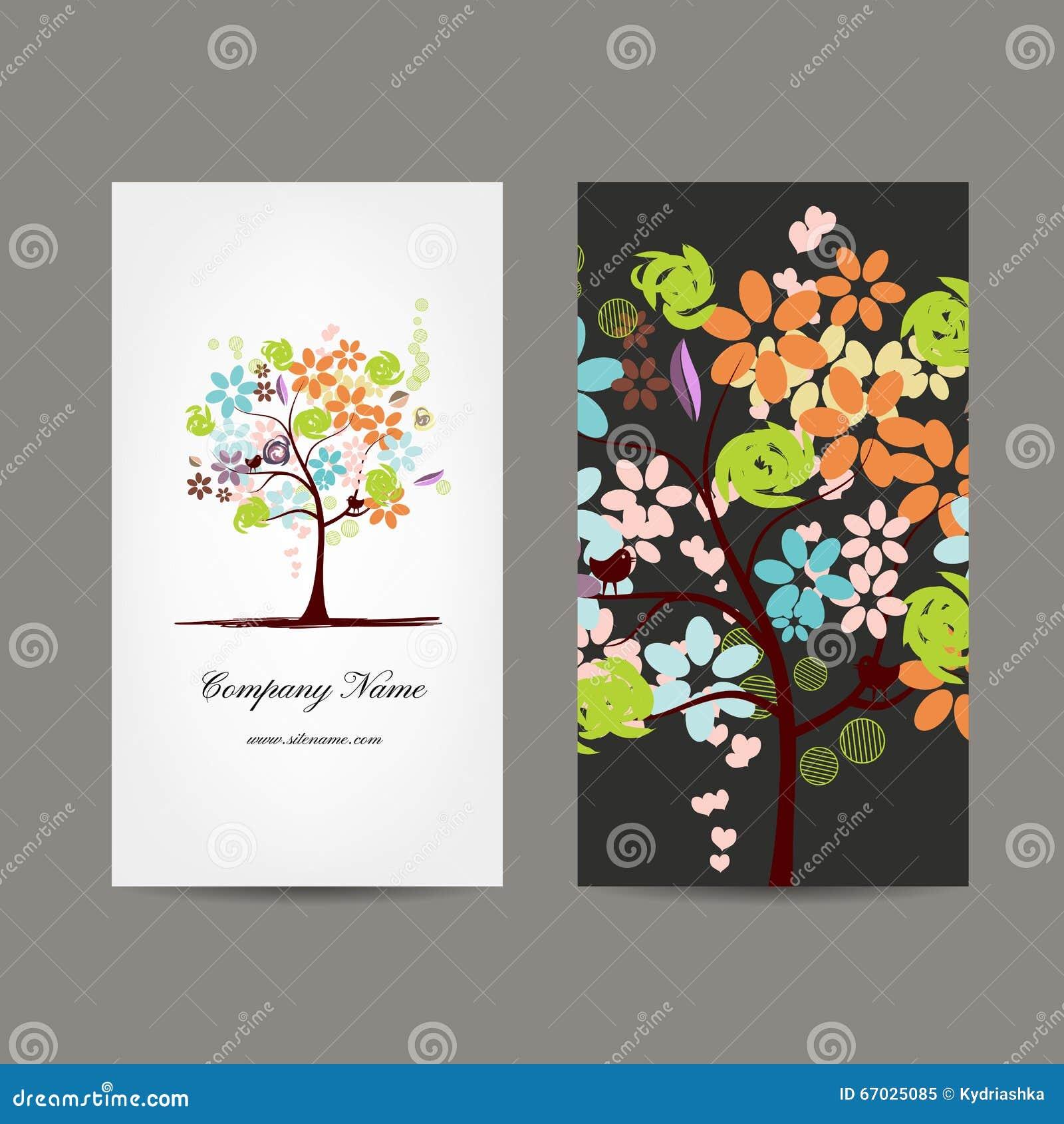 Conception De Cartes Visite Professionnelle Avec L Arbre Floral