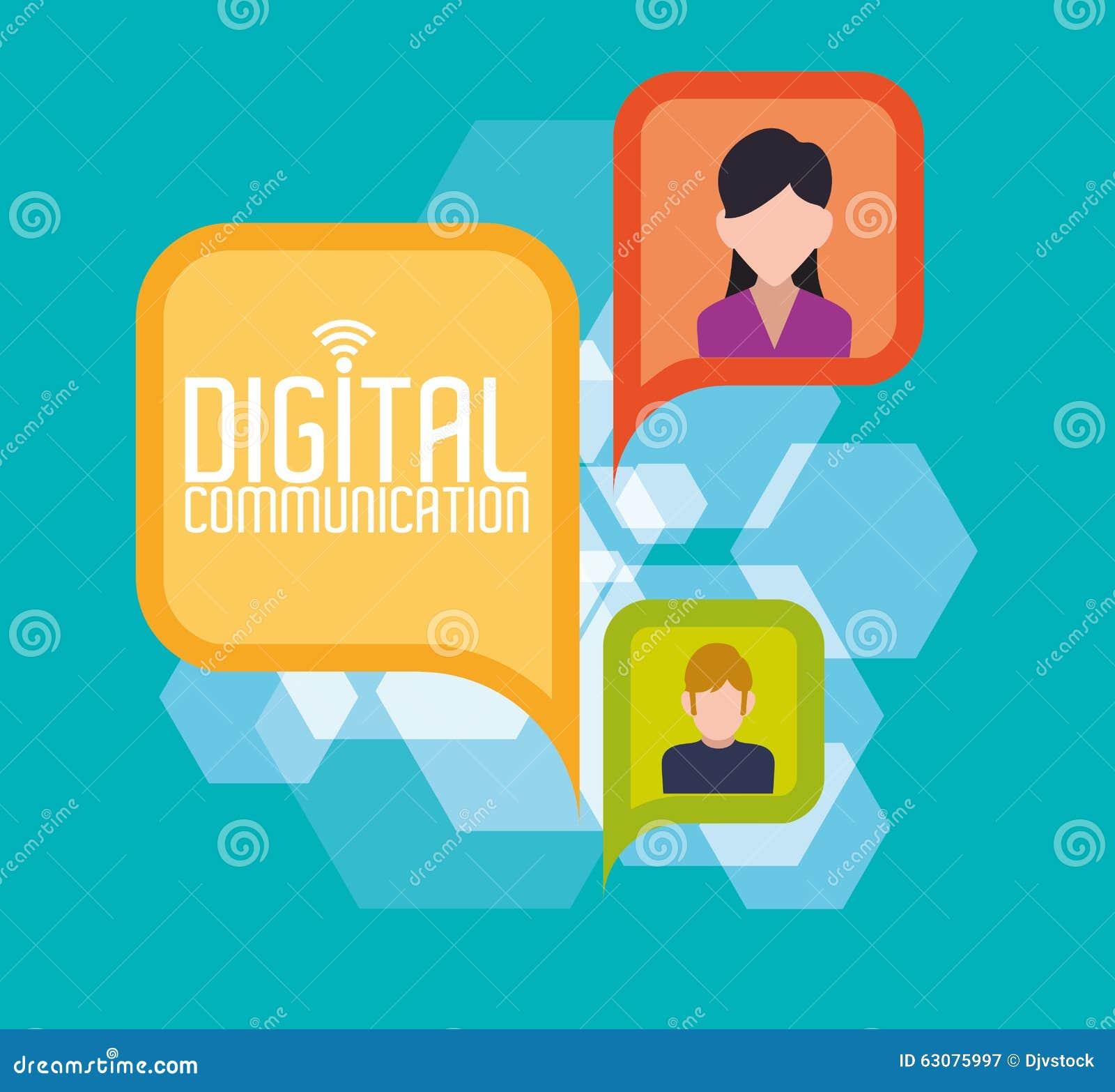 Download Conception De Communication Numérique Illustration de Vecteur - Illustration du moderne, dispositif: 63075997