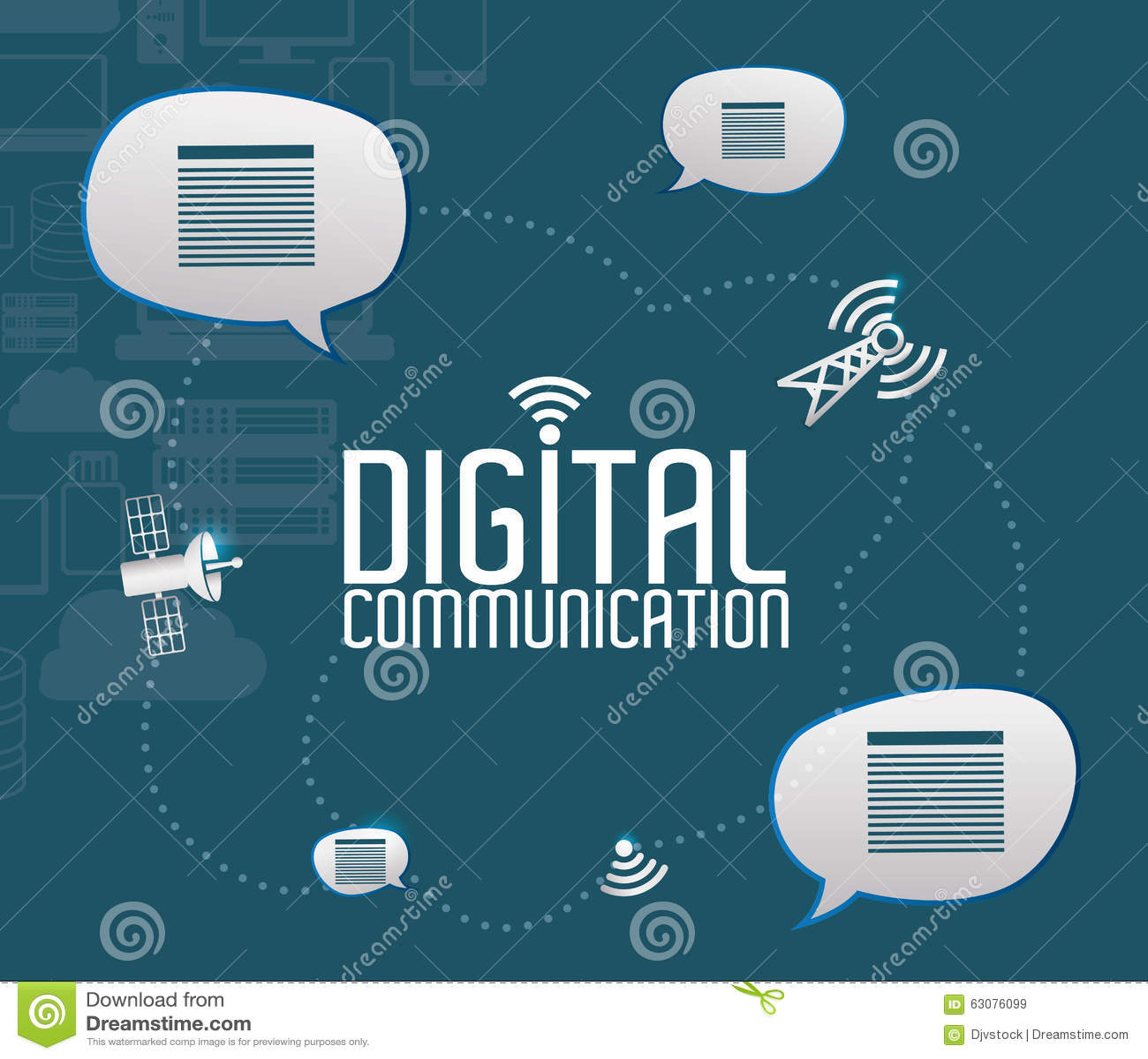 Download Conception De Communication Numérique Illustration de Vecteur - Illustration du connectivité, calcul: 63076099