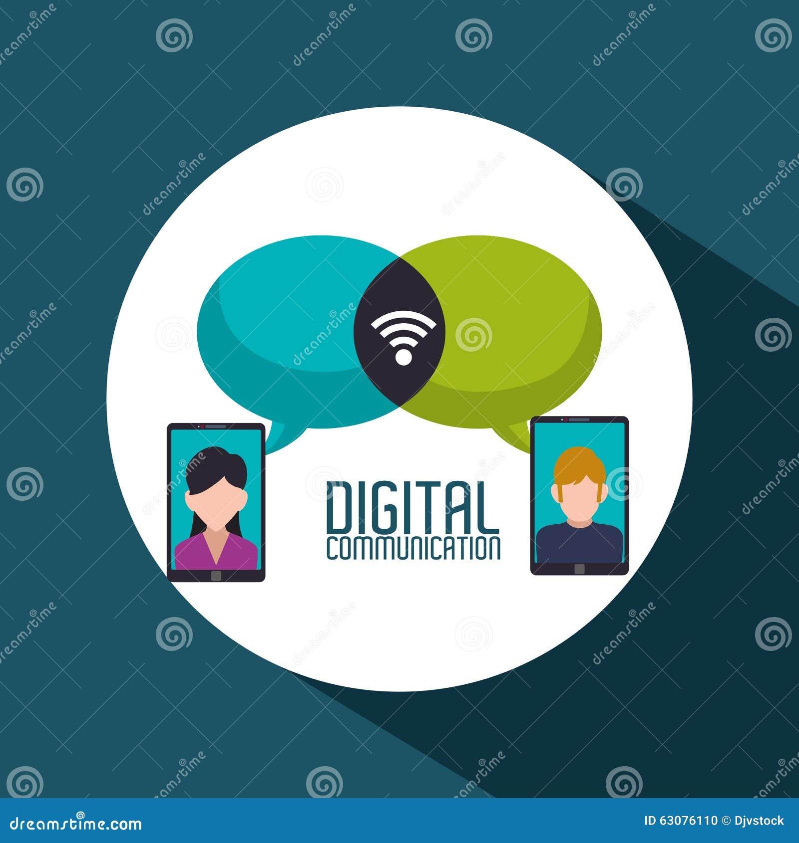 Download Conception De Communication Numérique Illustration de Vecteur - Illustration du conception, future: 63076110
