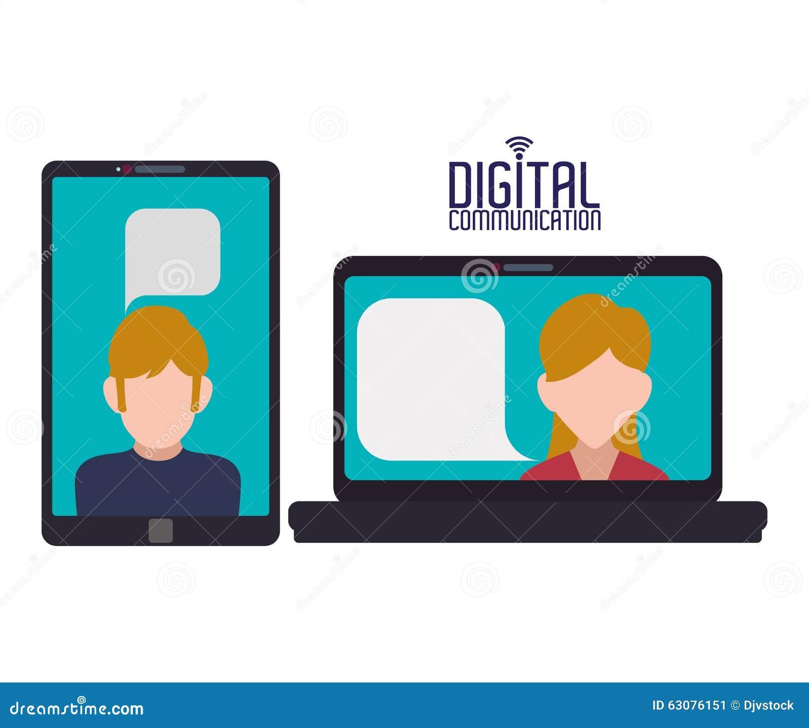 Download Conception De Communication Numérique Illustration de Vecteur - Illustration du dispositif, medias: 63076151