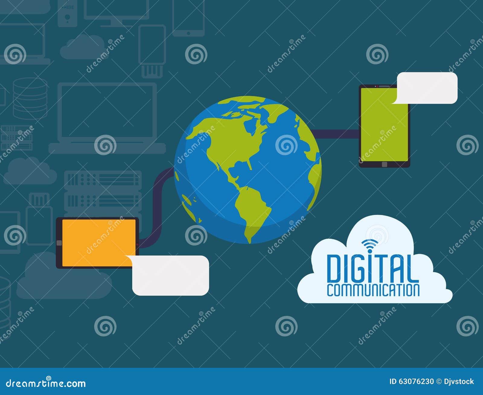 Download Conception De Communication Numérique Illustration de Vecteur - Illustration du graphisme, électronique: 63076230