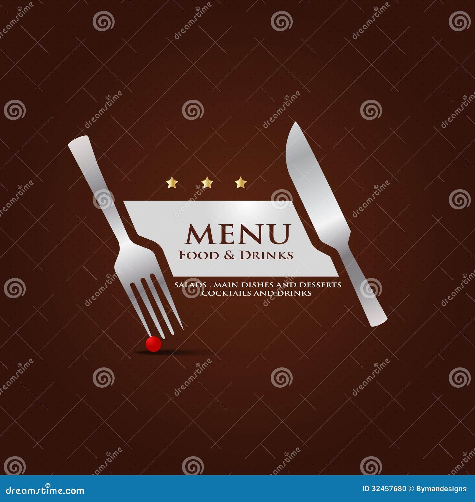 Conception De Couverture De Menu De Restaurant Photo Stock