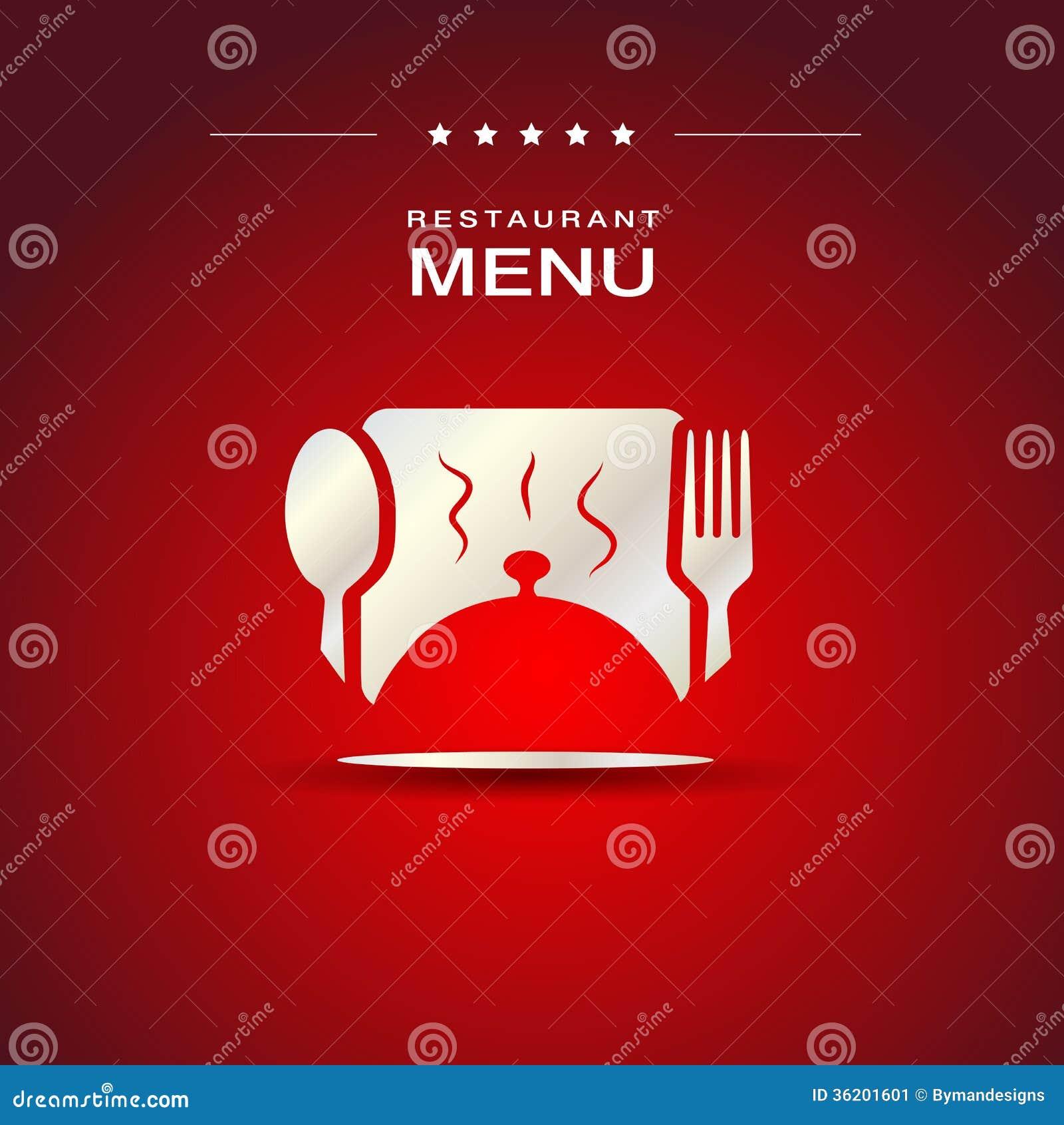 Conception De Couverture De Menu De Restaurant Image Stock