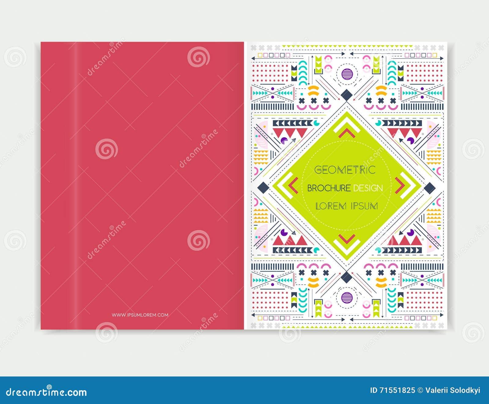 Conception de couverture pour l insecte de tract de brochure Schéma moderne fond Fond coloré géométrique abstrait