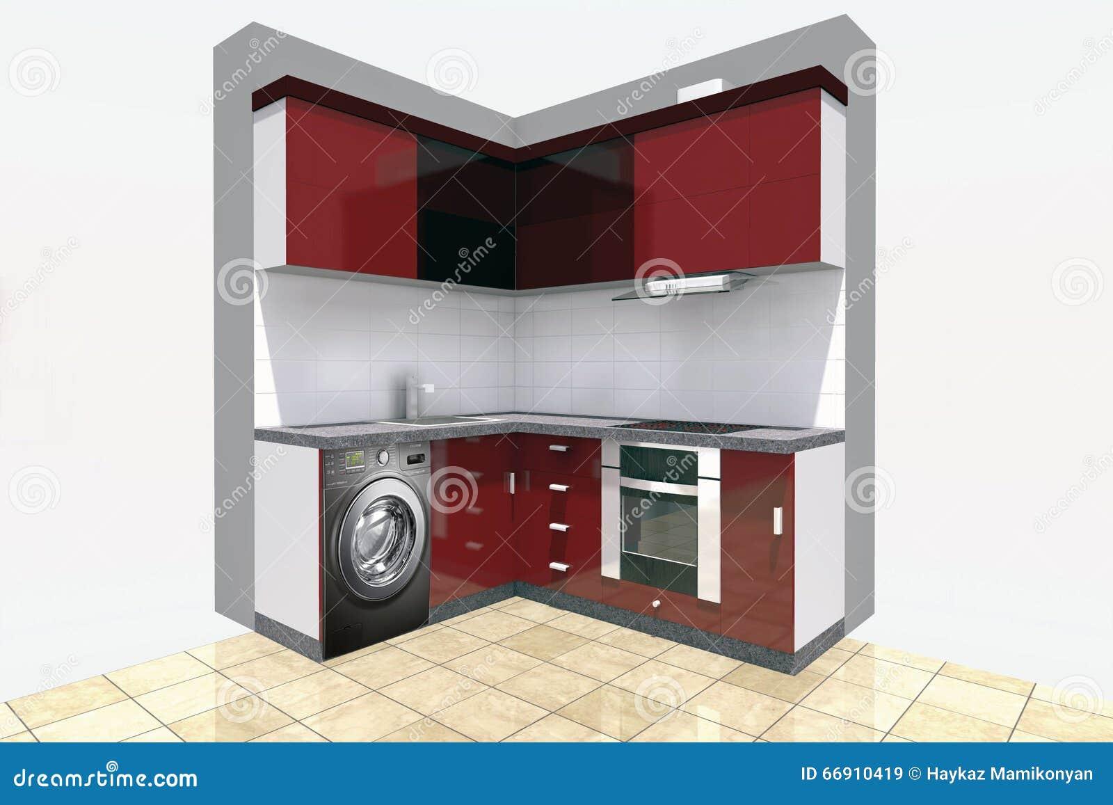 Conception de cuisine illustration stock illustration du architecte 66910419 - Conception de cuisine ...
