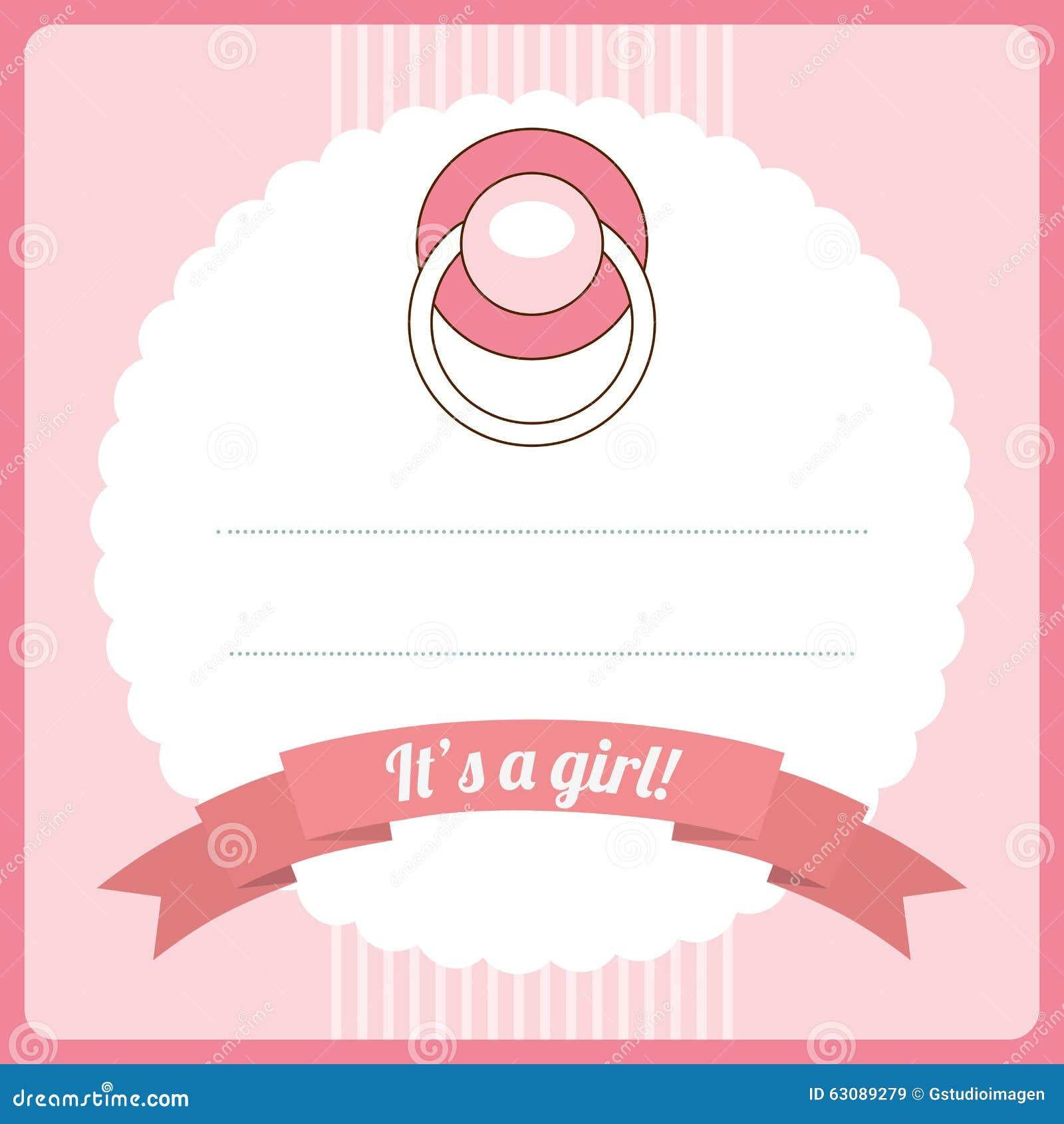 Download Conception De Fête De Naissance Illustration de Vecteur - Illustration du rose, naissance: 63089279