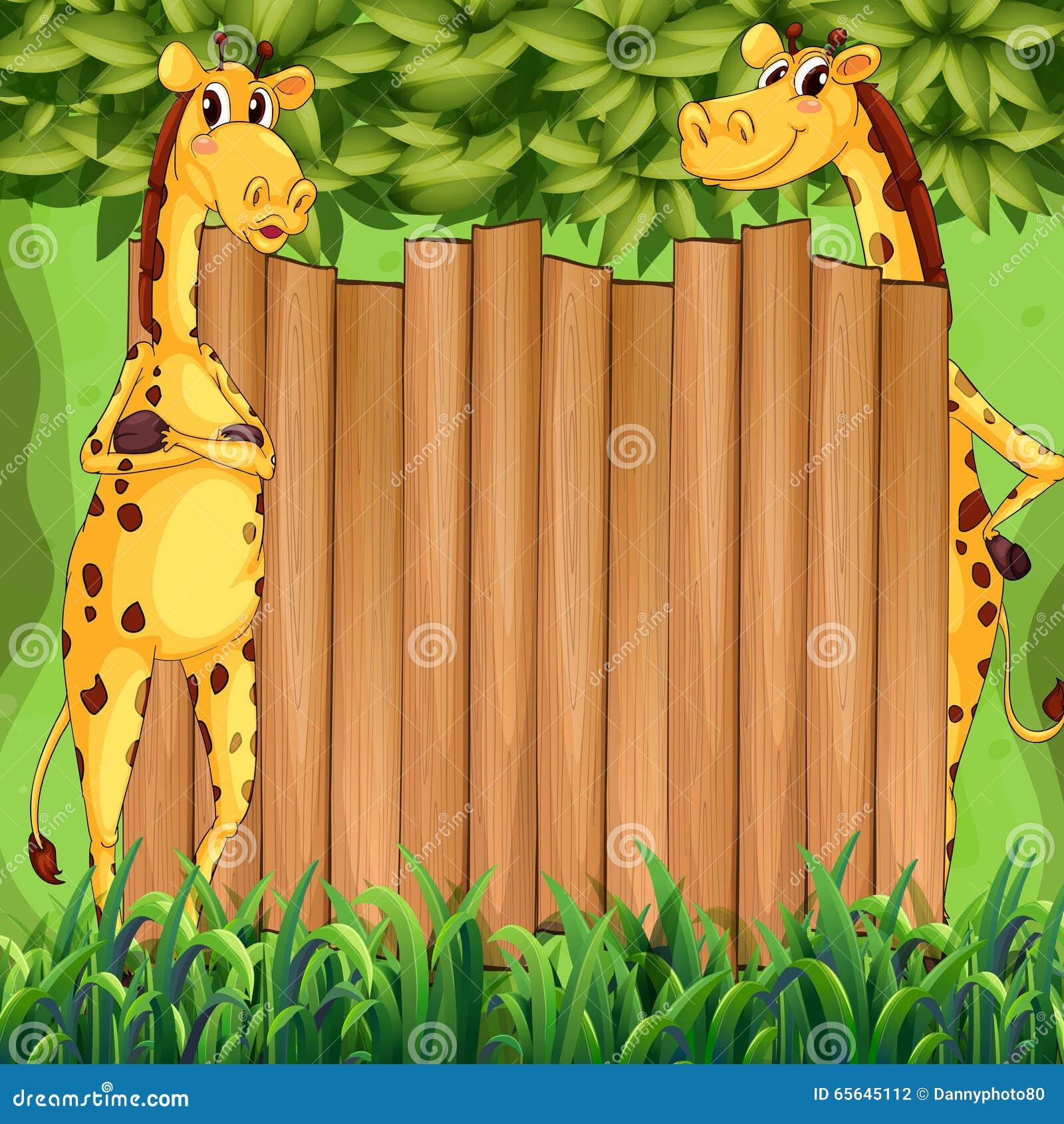 Conception de frontière avec deux girafes