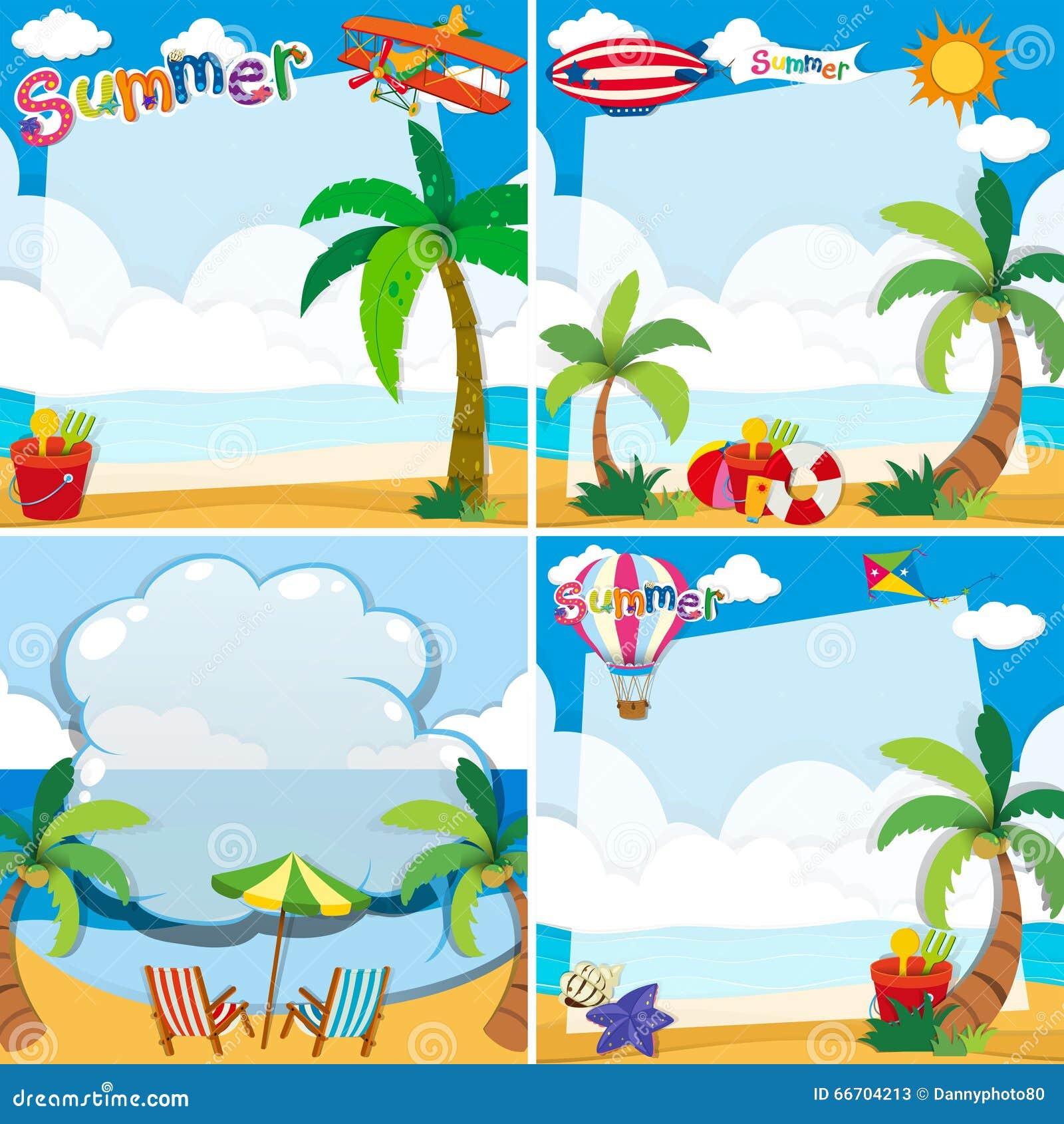 Conception de frontière avec le thème d été